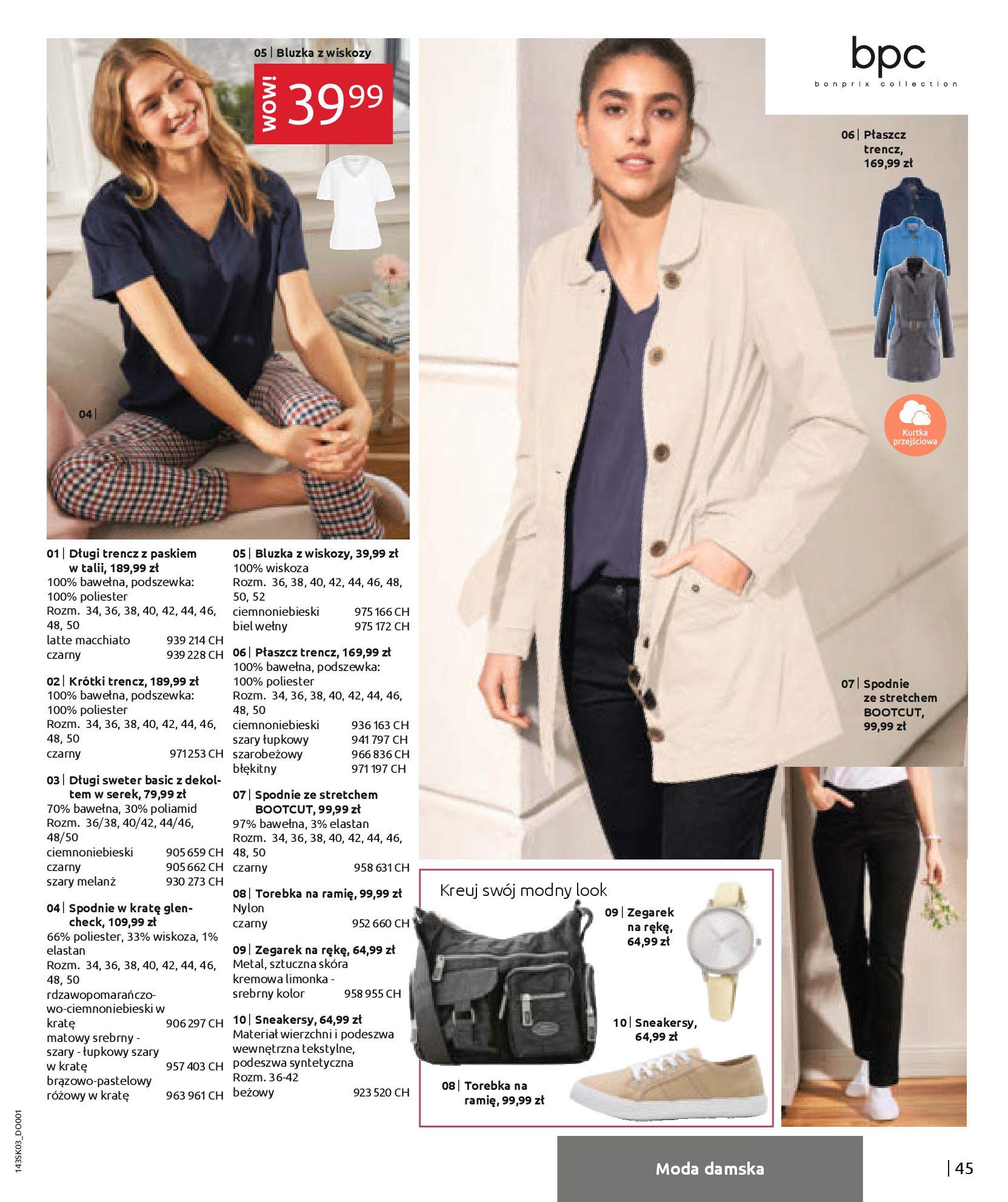 Gazetka Bonprix: Wiosenna moda 2021-03-05 page-47