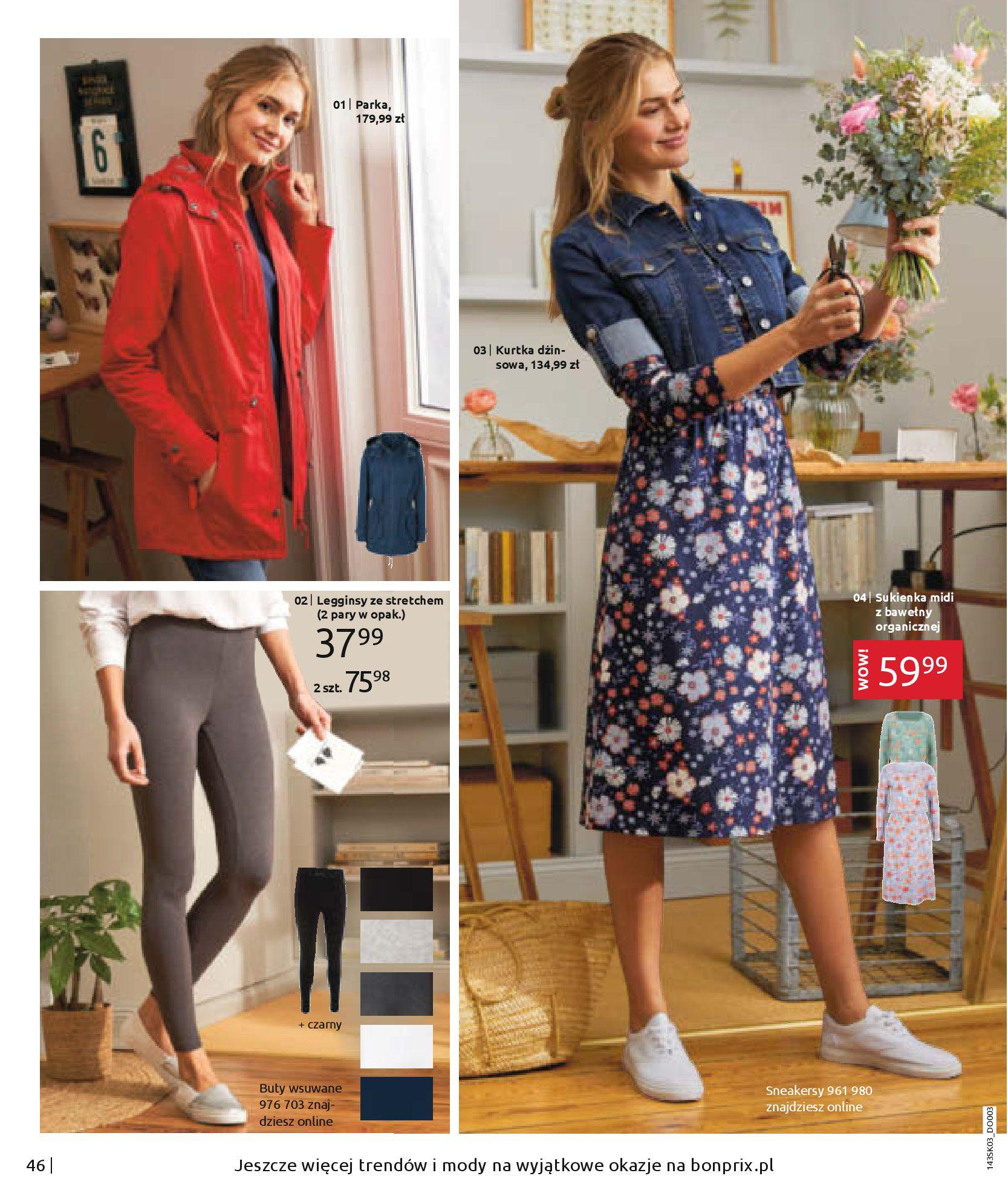 Gazetka Bonprix: Wiosenna moda 2021-03-05 page-48