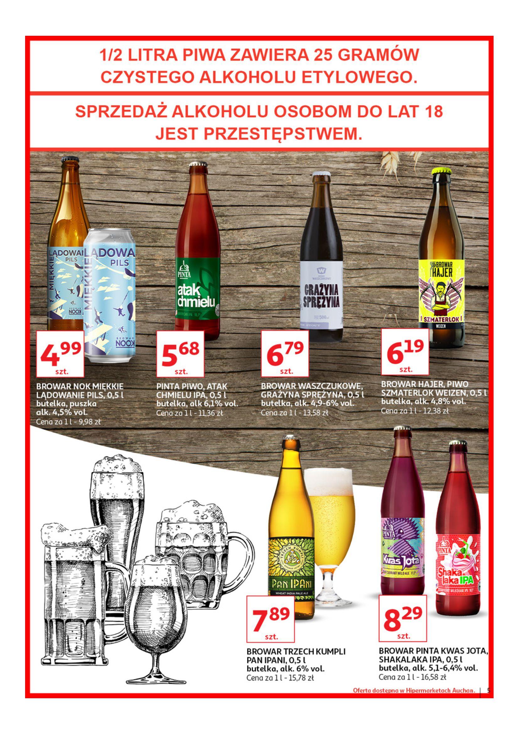 Gazetka Auchan - Poznaj naszą ofertę piw Hipermarkety-12.06.2019-23.06.2019-page-5