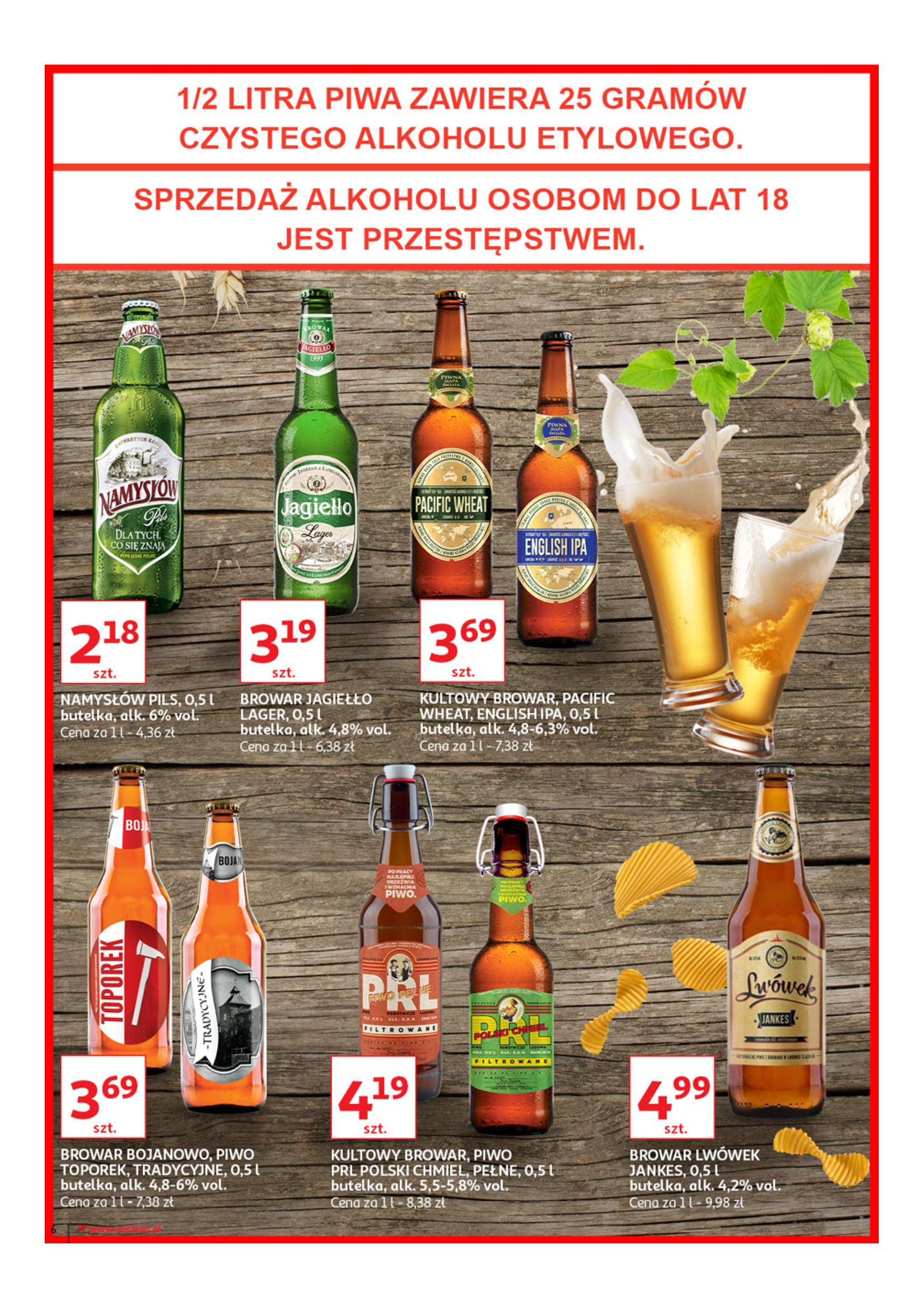 Gazetka Auchan - Poznaj naszą ofertę piw Hipermarkety-12.06.2019-23.06.2019-page-6