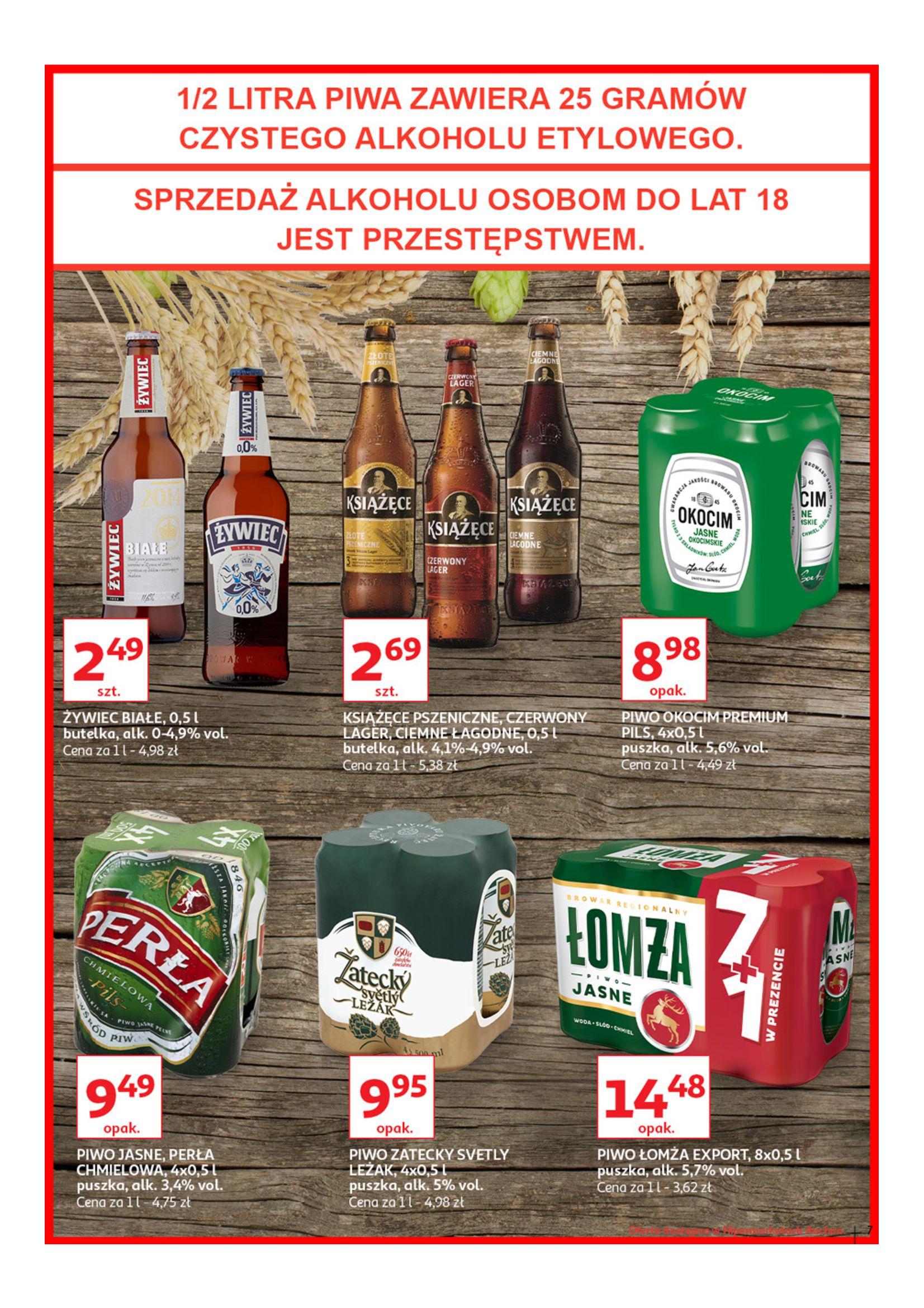 Gazetka Auchan - Poznaj naszą ofertę piw Hipermarkety-12.06.2019-23.06.2019-page-7