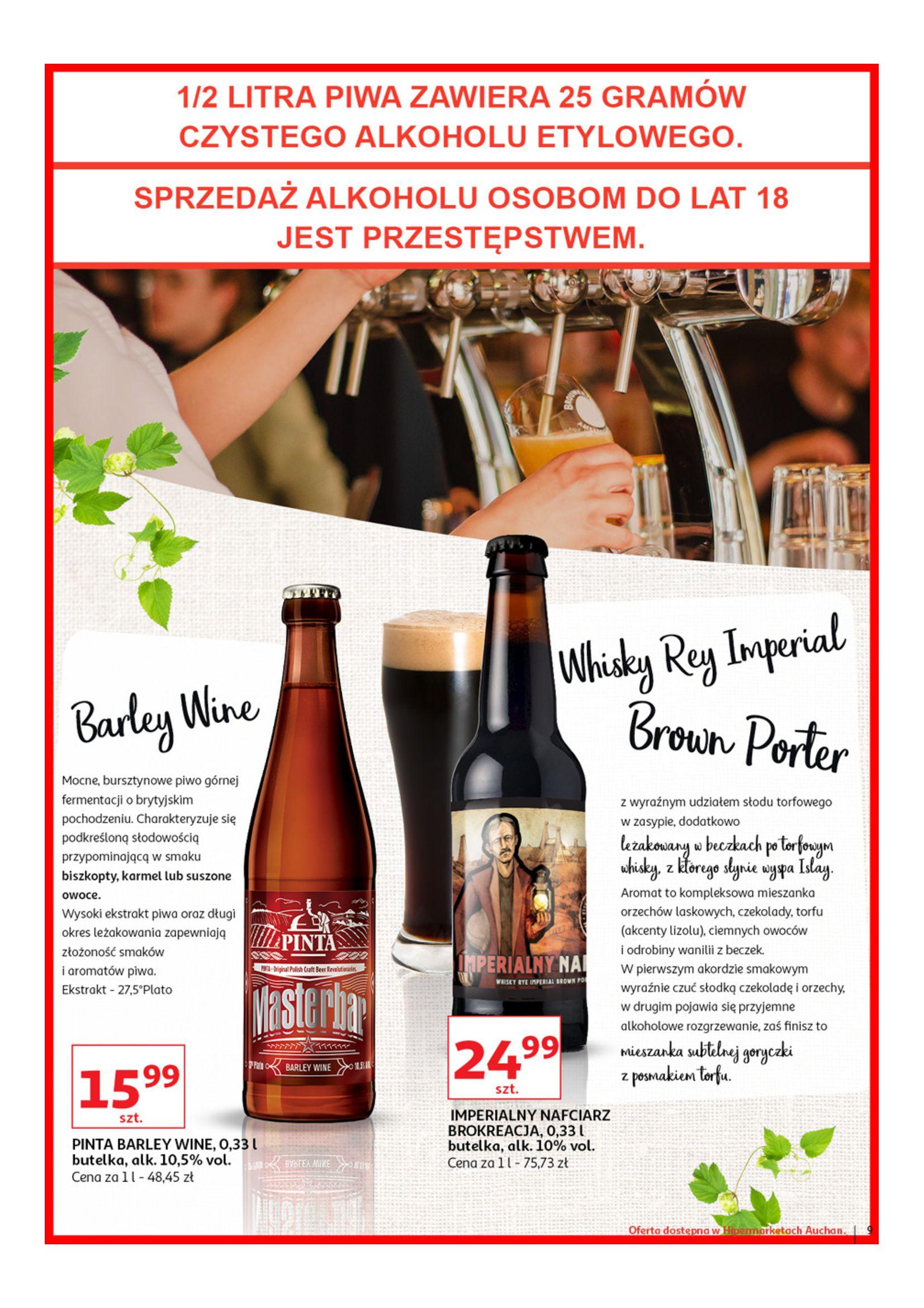 Gazetka Auchan - Poznaj naszą ofertę piw Hipermarkety-12.06.2019-23.06.2019-page-9
