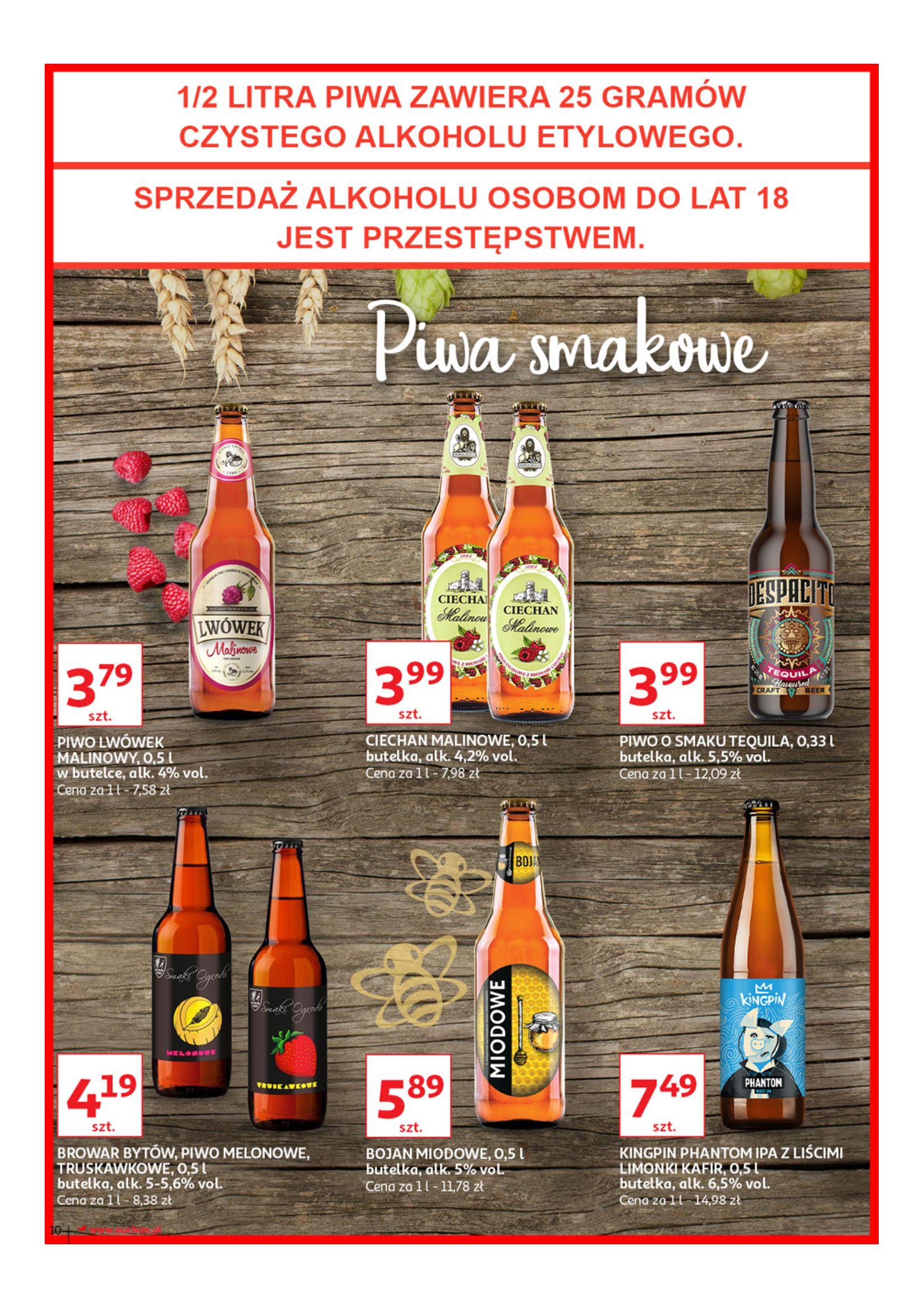 Gazetka Auchan - Poznaj naszą ofertę piw Hipermarkety-12.06.2019-23.06.2019-page-10