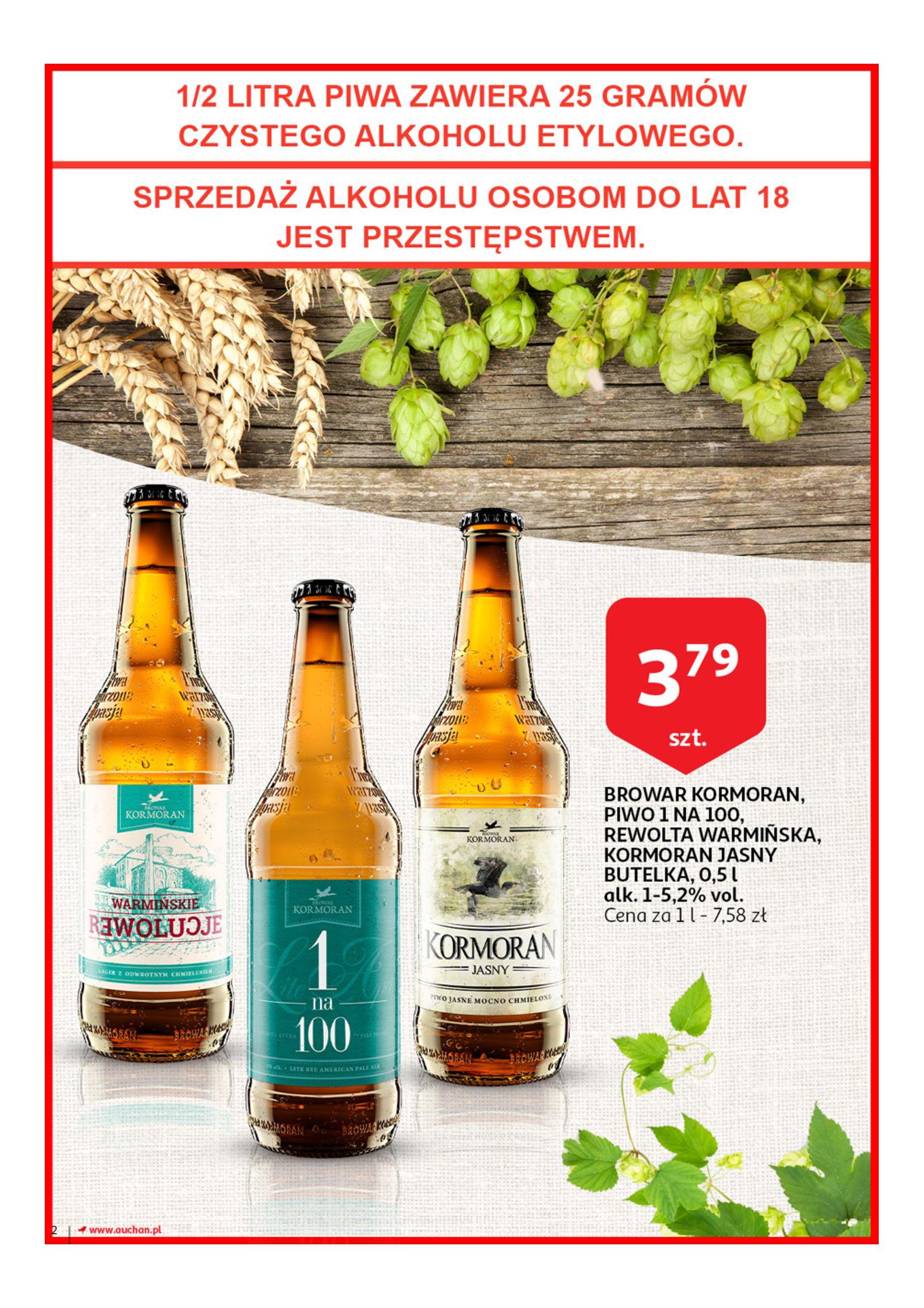 Gazetka Auchan - Poznaj naszą ofertę piw Hipermarkety-12.06.2019-23.06.2019-page-2