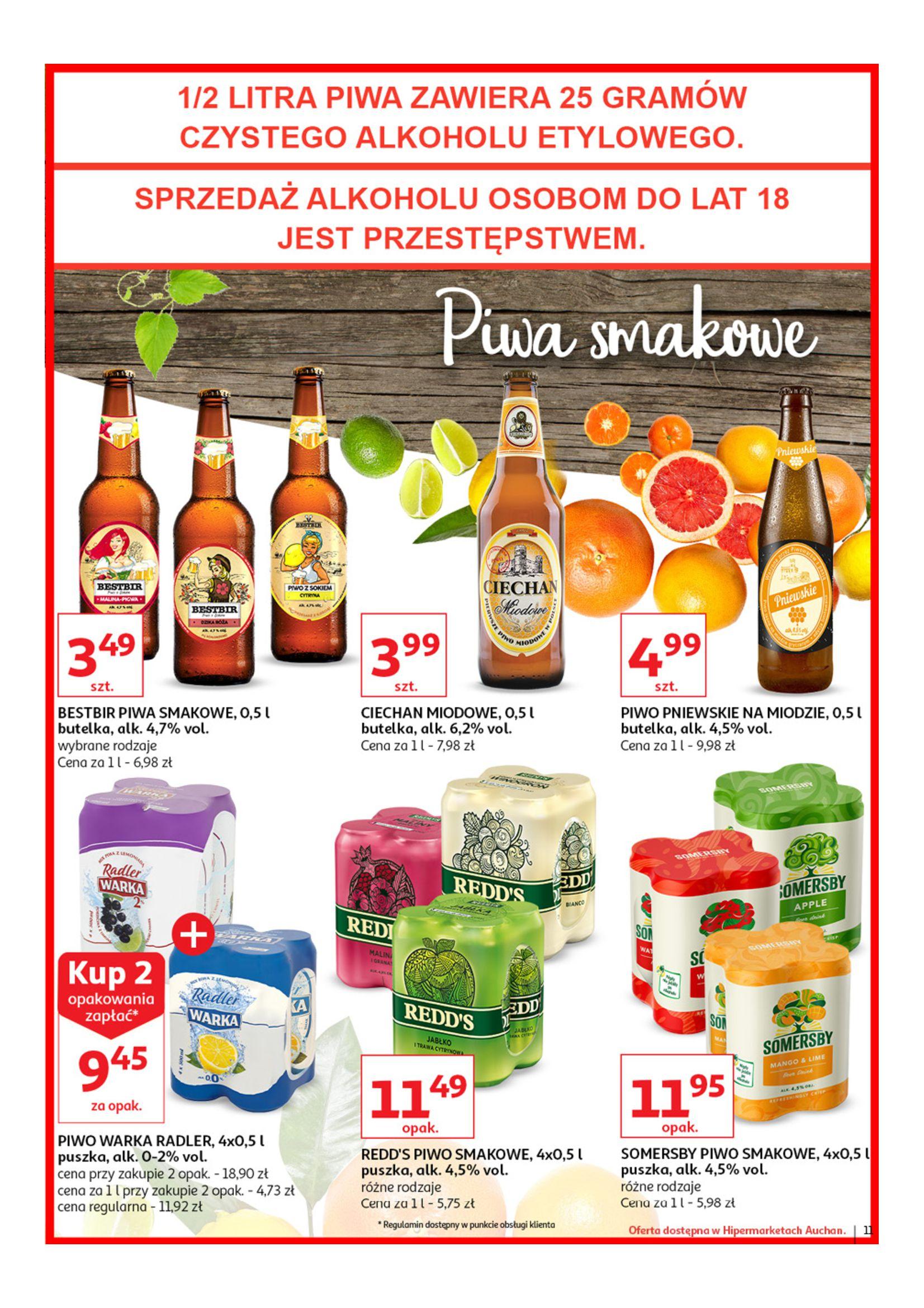 Gazetka Auchan - Poznaj naszą ofertę piw Hipermarkety-12.06.2019-23.06.2019-page-11
