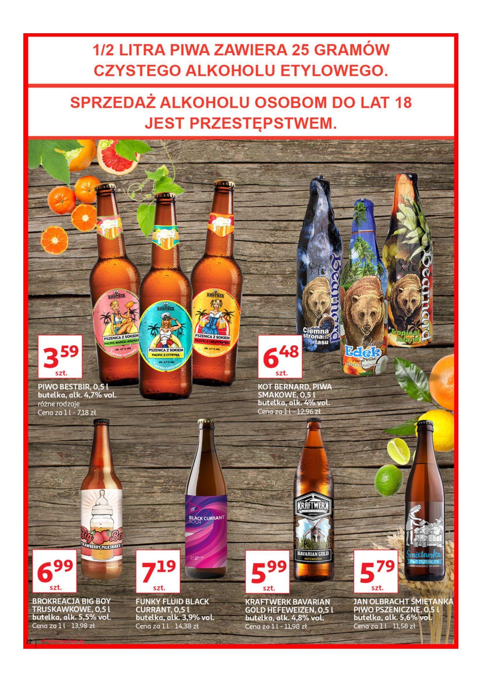 Gazetka Auchan - Poznaj naszą ofertę piw Hipermarkety-12.06.2019-23.06.2019-page-12