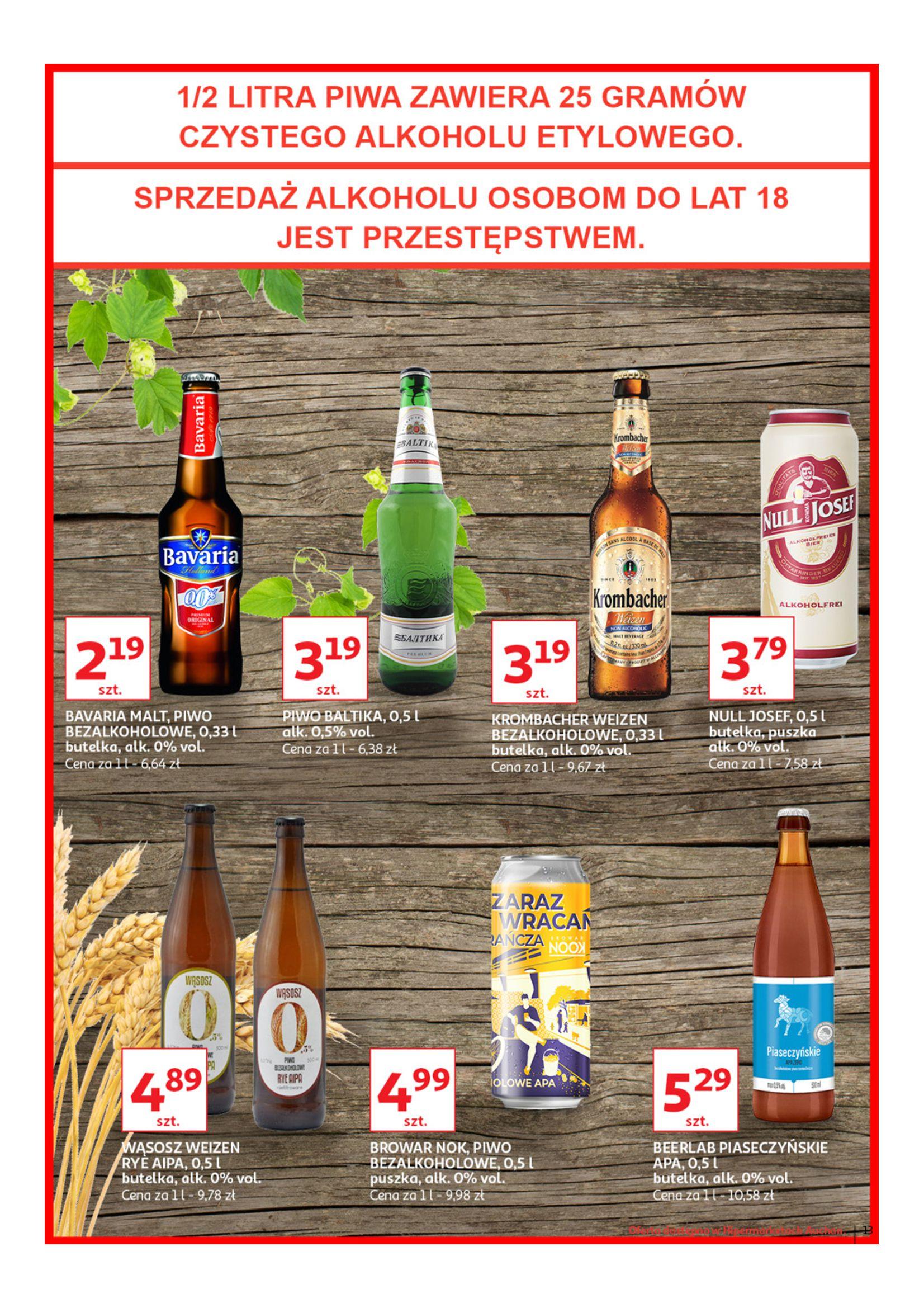 Gazetka Auchan - Poznaj naszą ofertę piw Hipermarkety-12.06.2019-23.06.2019-page-13