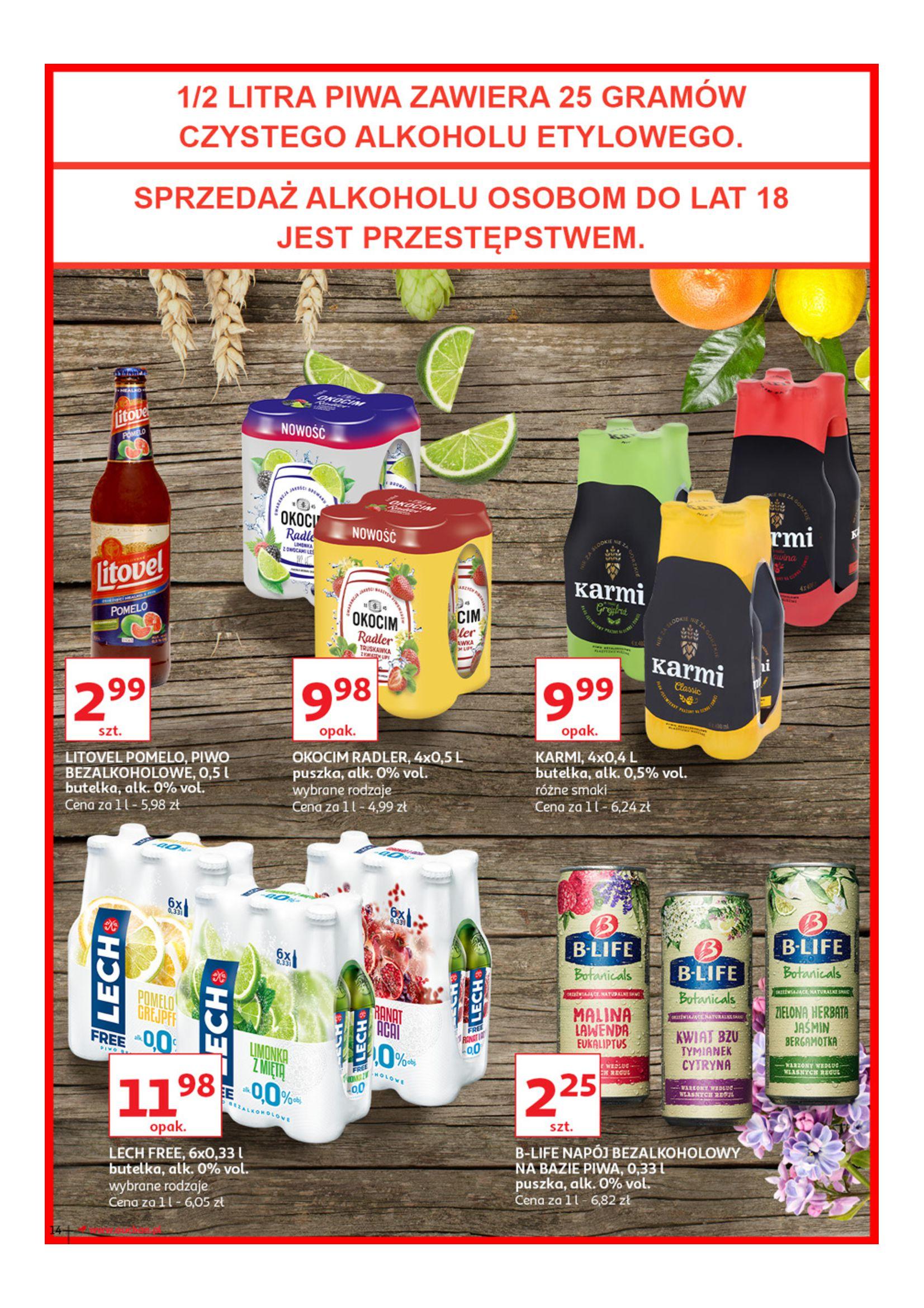 Gazetka Auchan - Poznaj naszą ofertę piw Hipermarkety-12.06.2019-23.06.2019-page-14