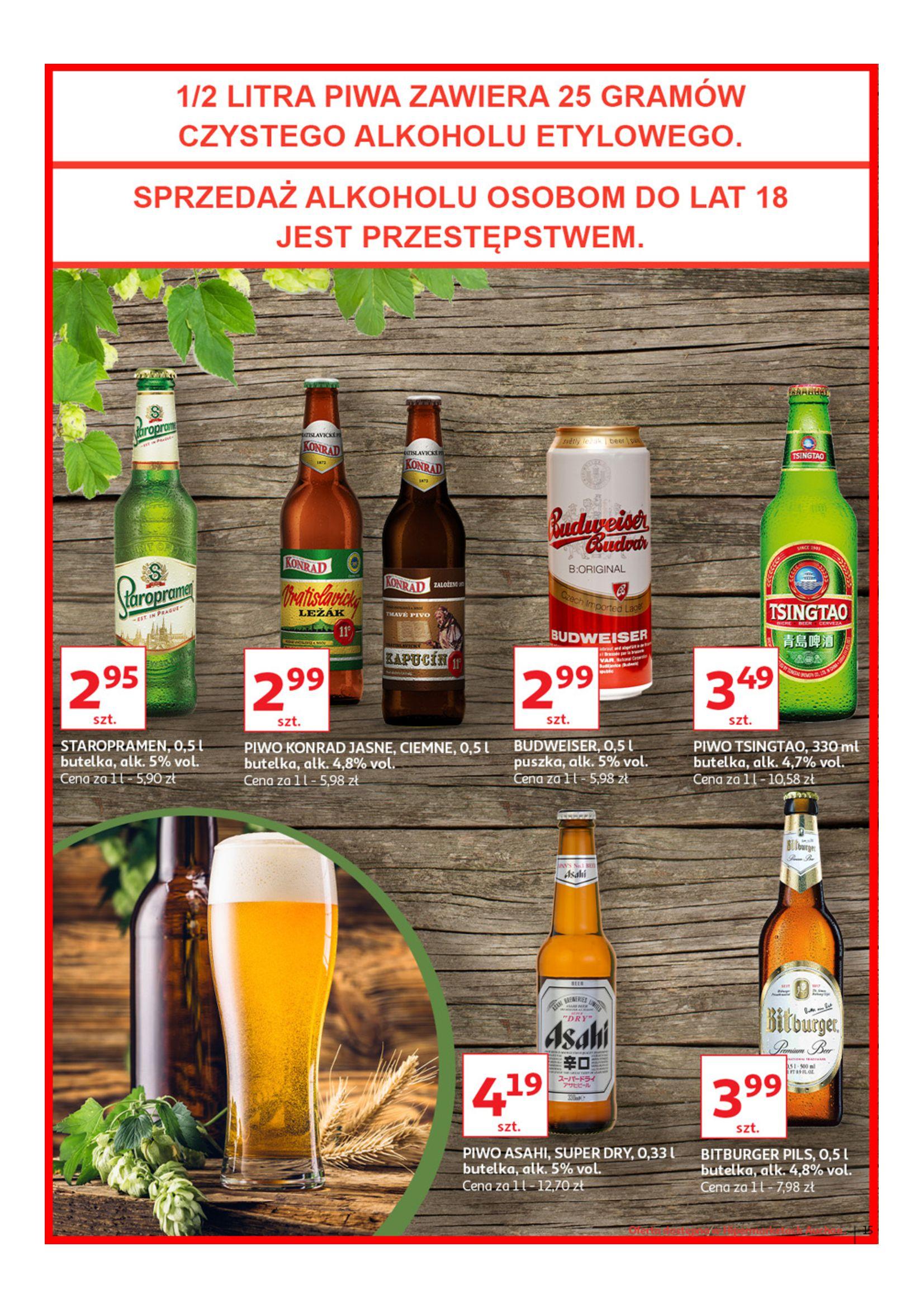 Gazetka Auchan - Poznaj naszą ofertę piw Hipermarkety-12.06.2019-23.06.2019-page-15