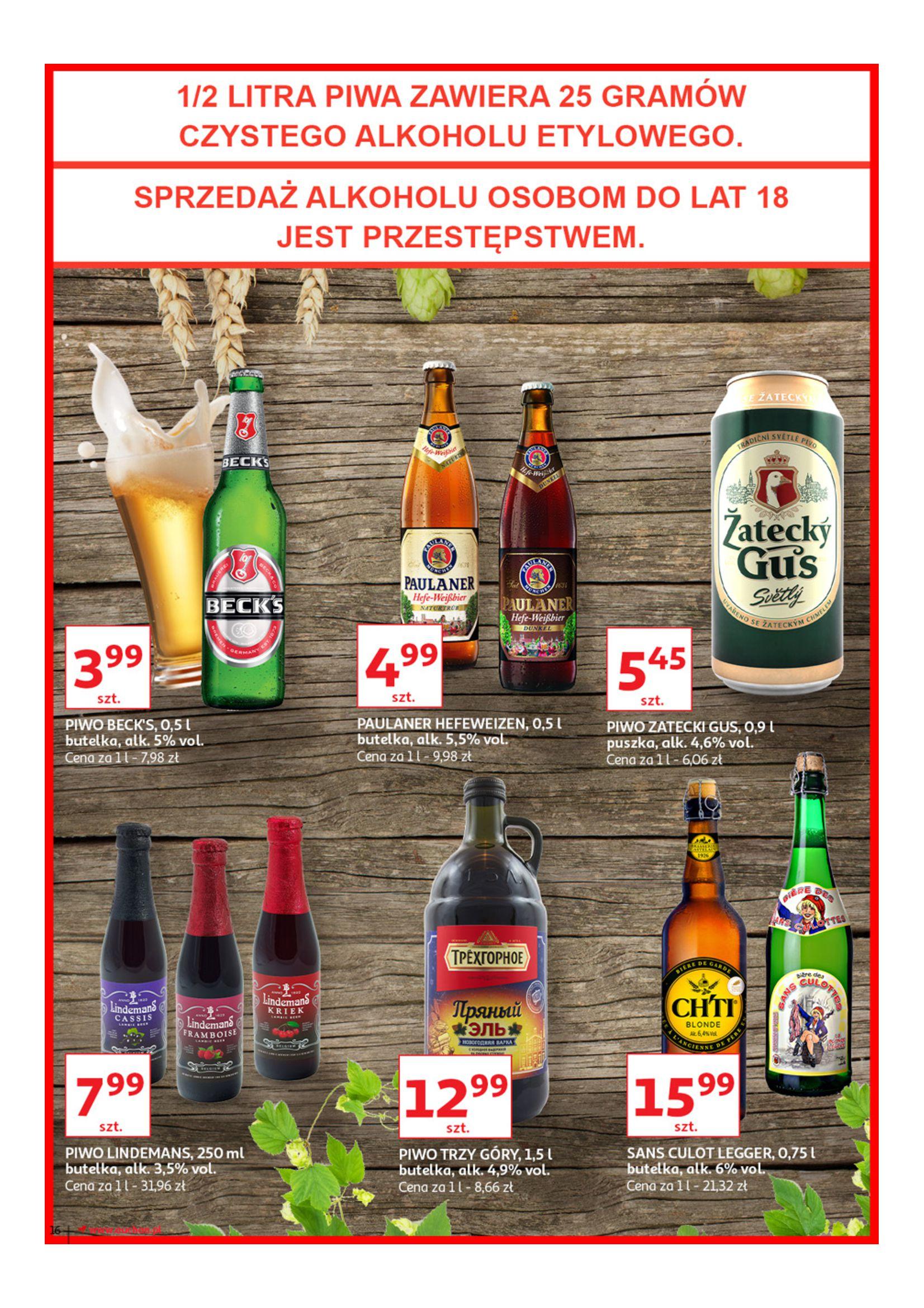 Gazetka Auchan - Poznaj naszą ofertę piw Hipermarkety-12.06.2019-23.06.2019-page-16