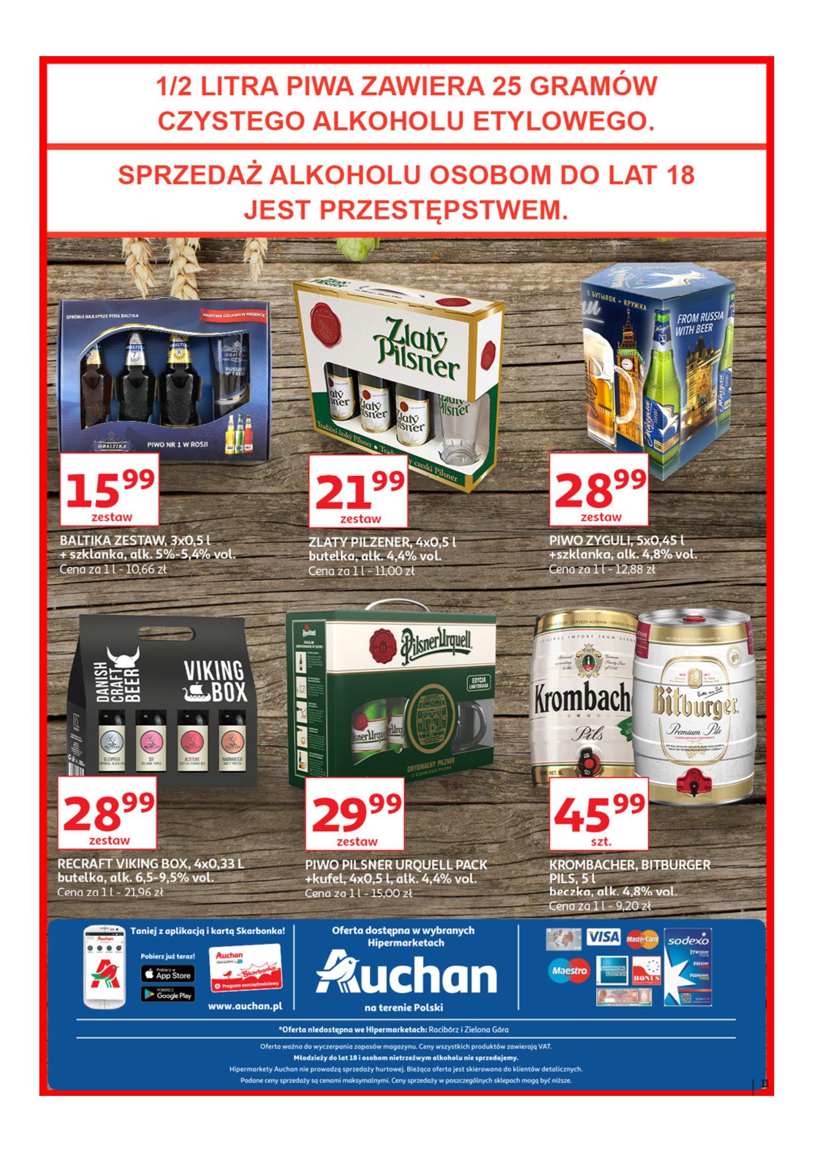 Gazetka Auchan - Poznaj naszą ofertę piw Hipermarkety-12.06.2019-23.06.2019-page-17