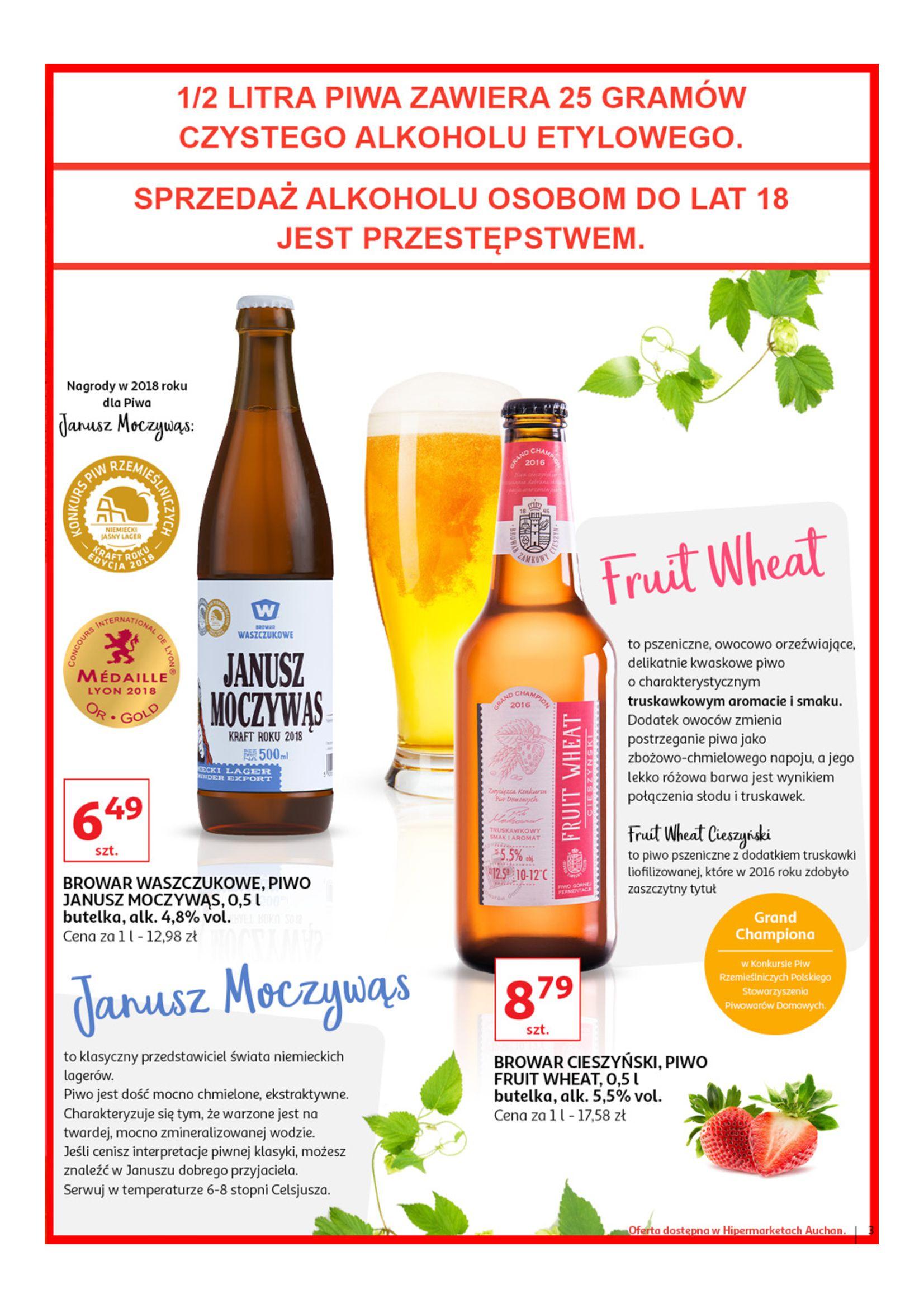 Gazetka Auchan - Poznaj naszą ofertę piw Hipermarkety-12.06.2019-23.06.2019-page-3
