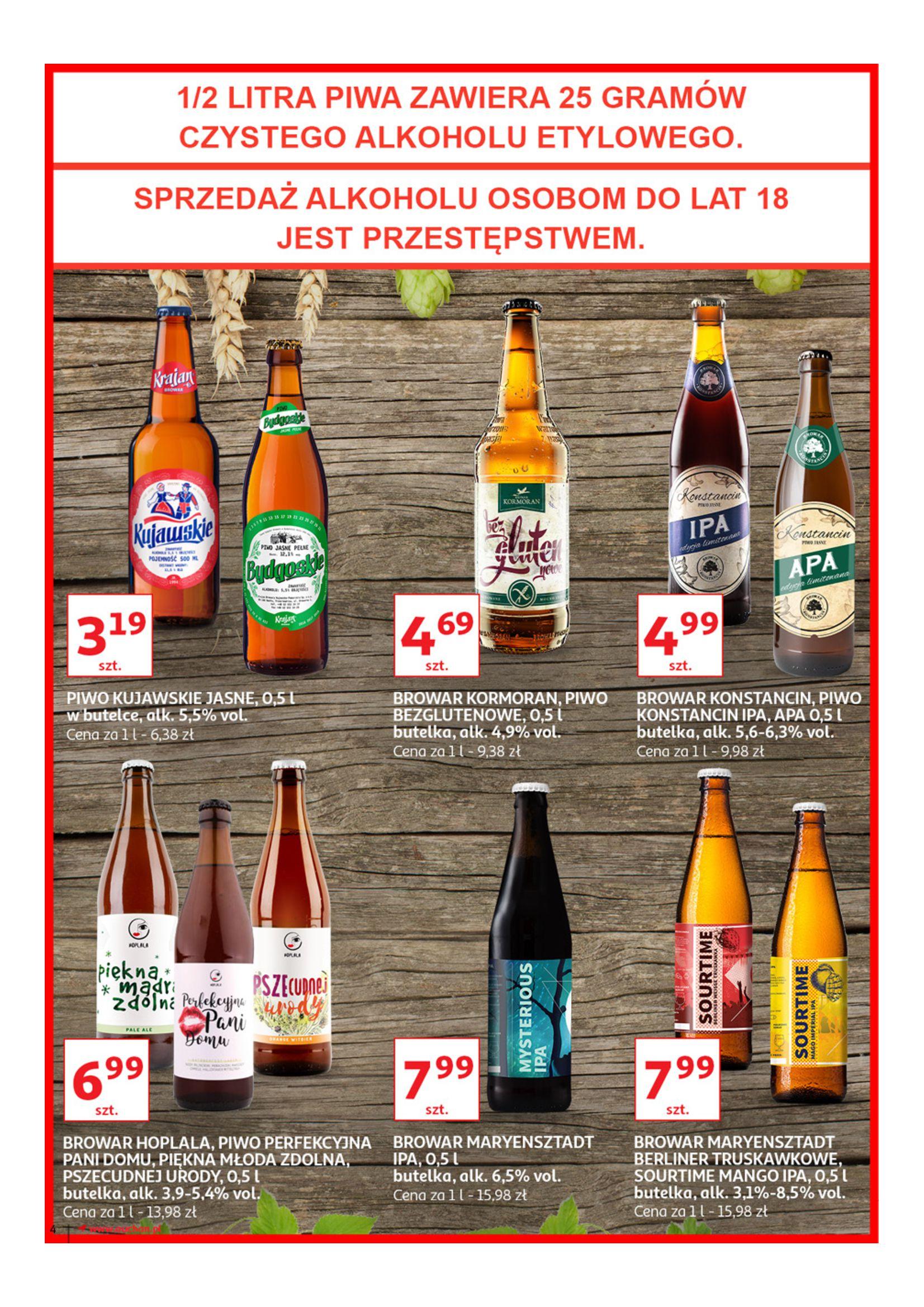 Gazetka Auchan - Poznaj naszą ofertę piw Hipermarkety-12.06.2019-23.06.2019-page-4