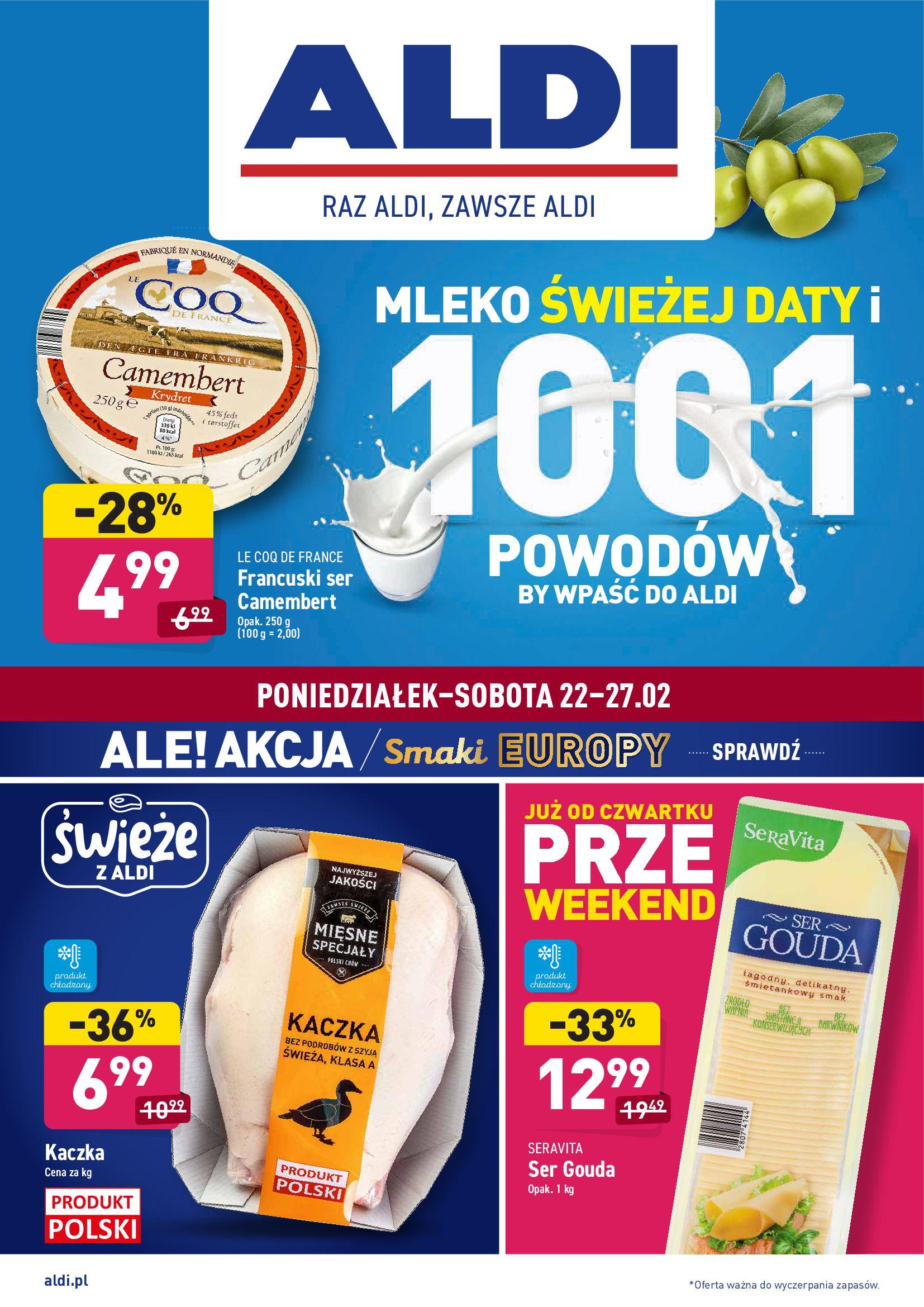 Gazetka Aldi: Gazetka promocyjna od 22.02 2021-02-22 page-1