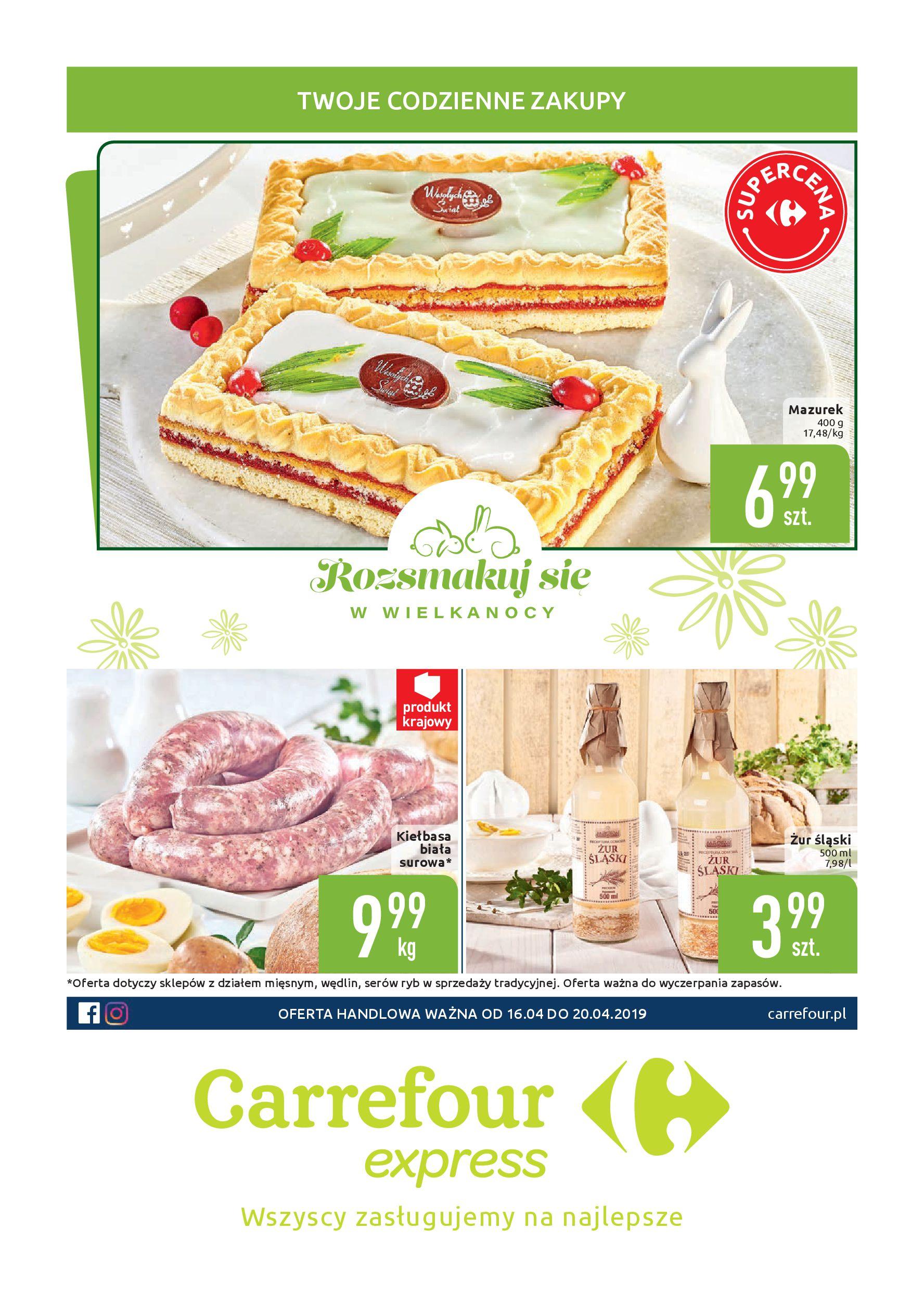 Gazetka Carrefour Express - Twoje codzienne zakupy-15.04.2019-20.04.2019-page-