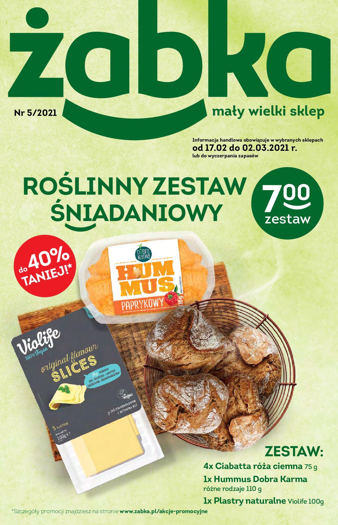 Gazetka Żabka: Gazetka promocyjna 2021-02-17 page-1