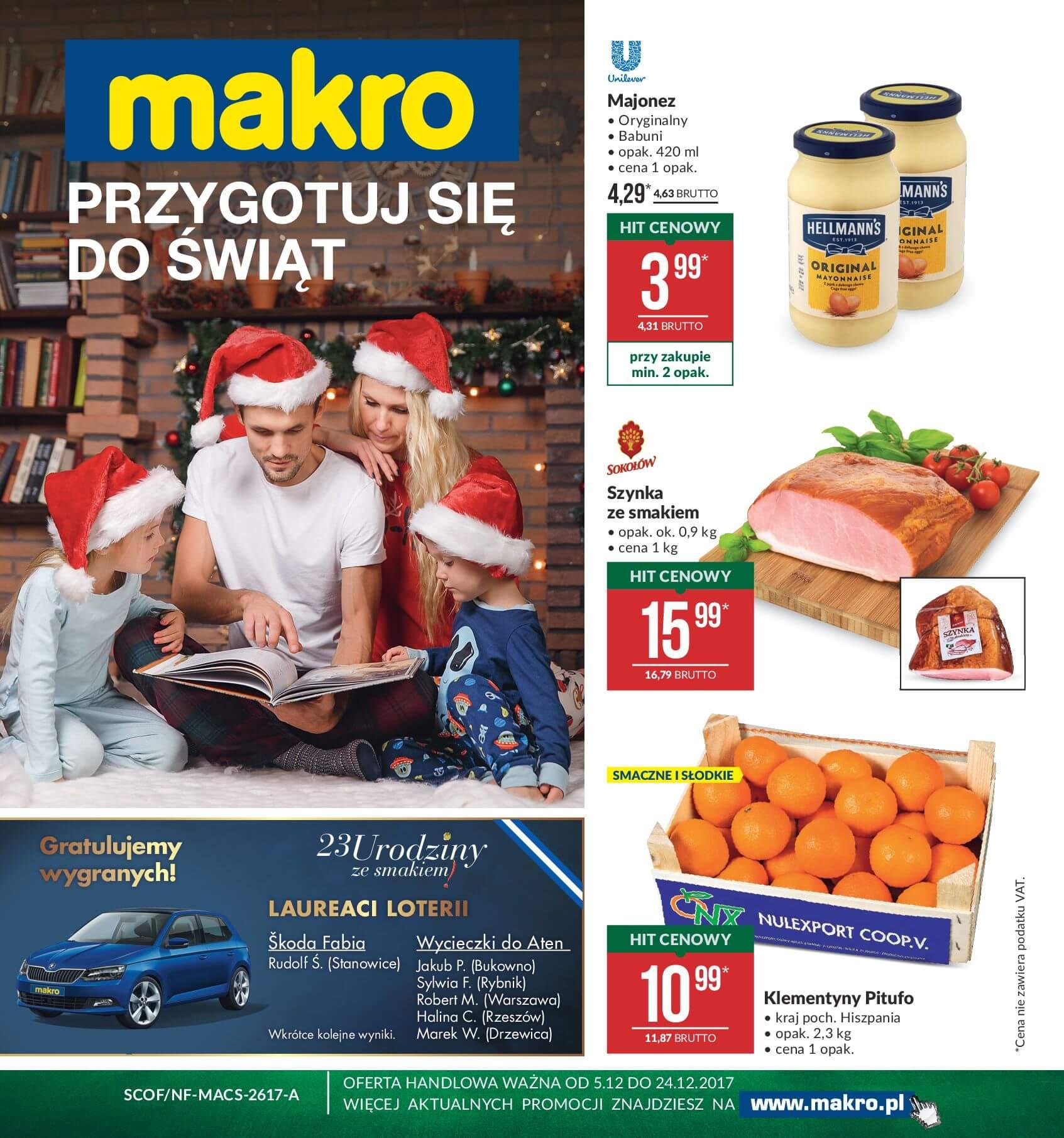 Gazetka Makro - Przygotuj się do świąt-04.12.2017-24.12.2017-page-1