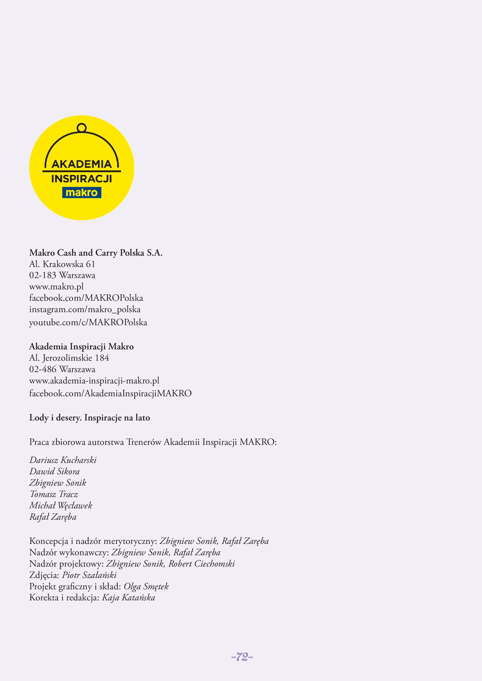 Gazetka Makro: Gazetka Makro - lody i desery 2021-05-21 page-72