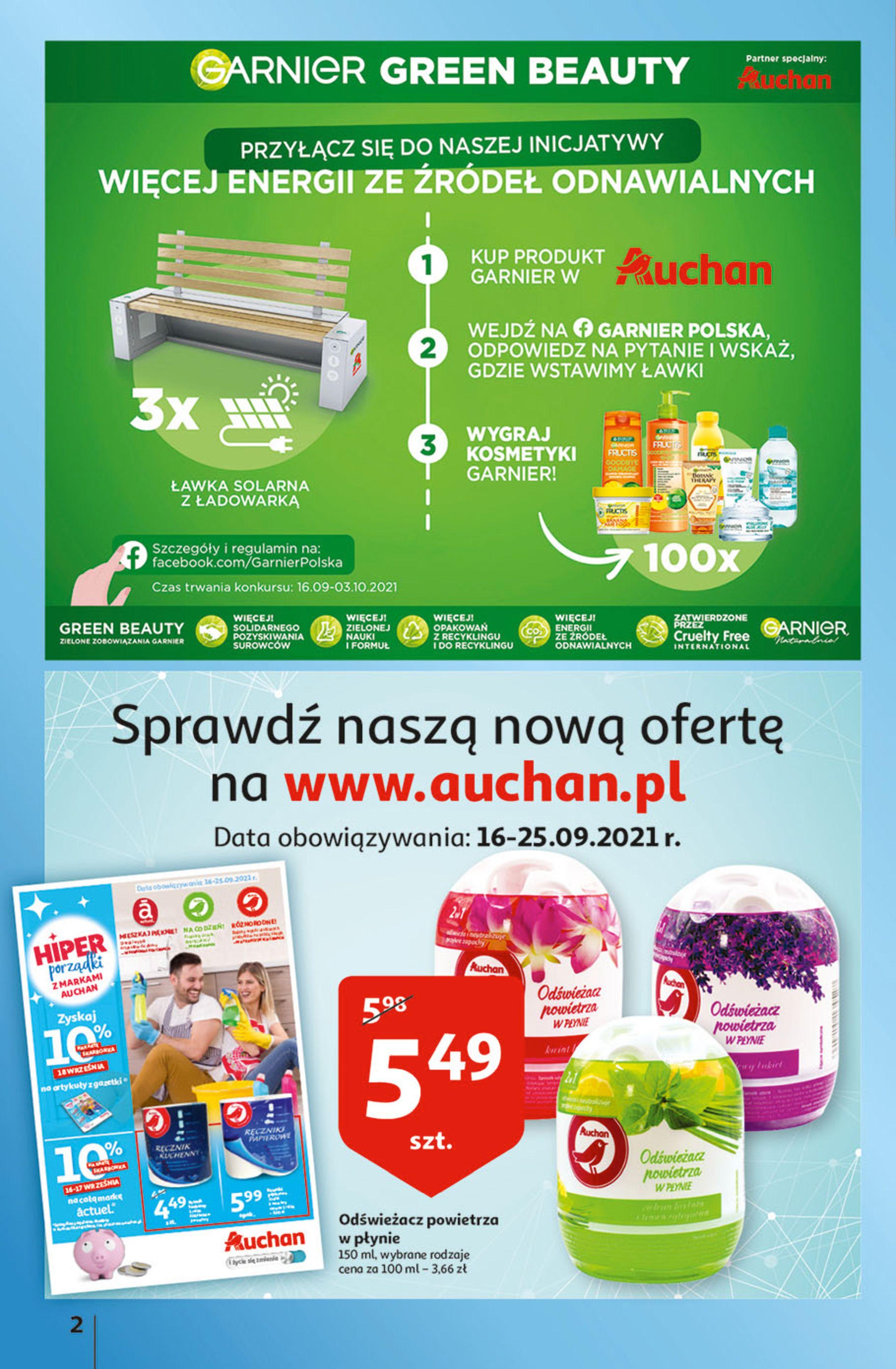 Gazetka Auchan: Gazetka Auchan - Hiperoszczędzanie w wersji Maxi Paki Hipermarkety 2021-09-16 page-2