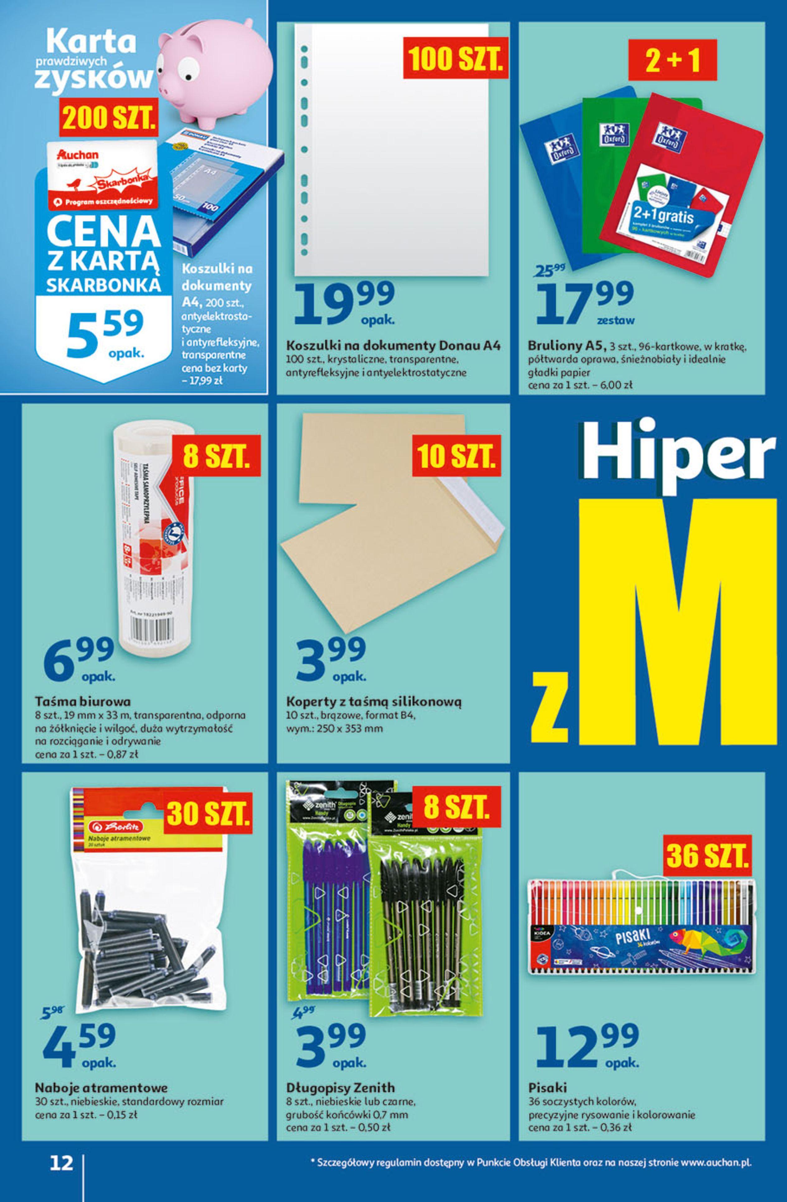 Gazetka Auchan: Gazetka Auchan - Hiperoszczędzanie w wersji Maxi Paki Hipermarkety 2021-09-16 page-12