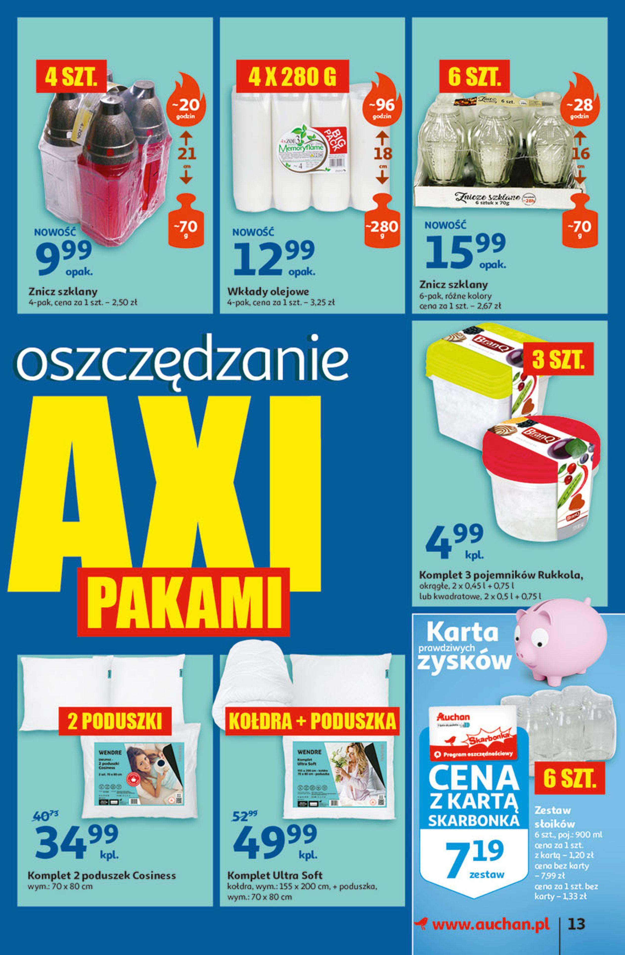 Gazetka Auchan: Gazetka Auchan - Hiperoszczędzanie w wersji Maxi Paki Hipermarkety 2021-09-16 page-13