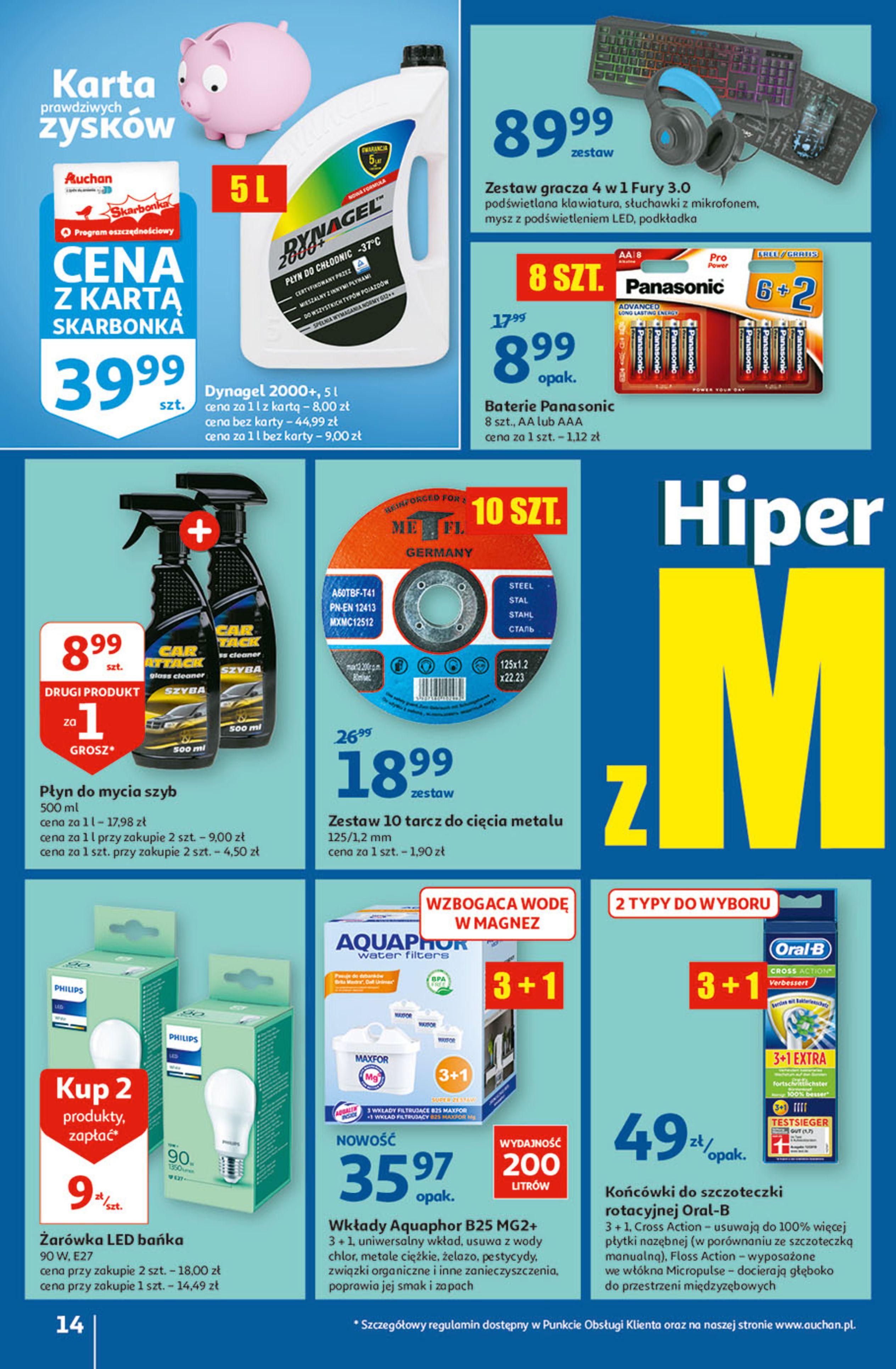Gazetka Auchan: Gazetka Auchan - Hiperoszczędzanie w wersji Maxi Paki Hipermarkety 2021-09-16 page-14