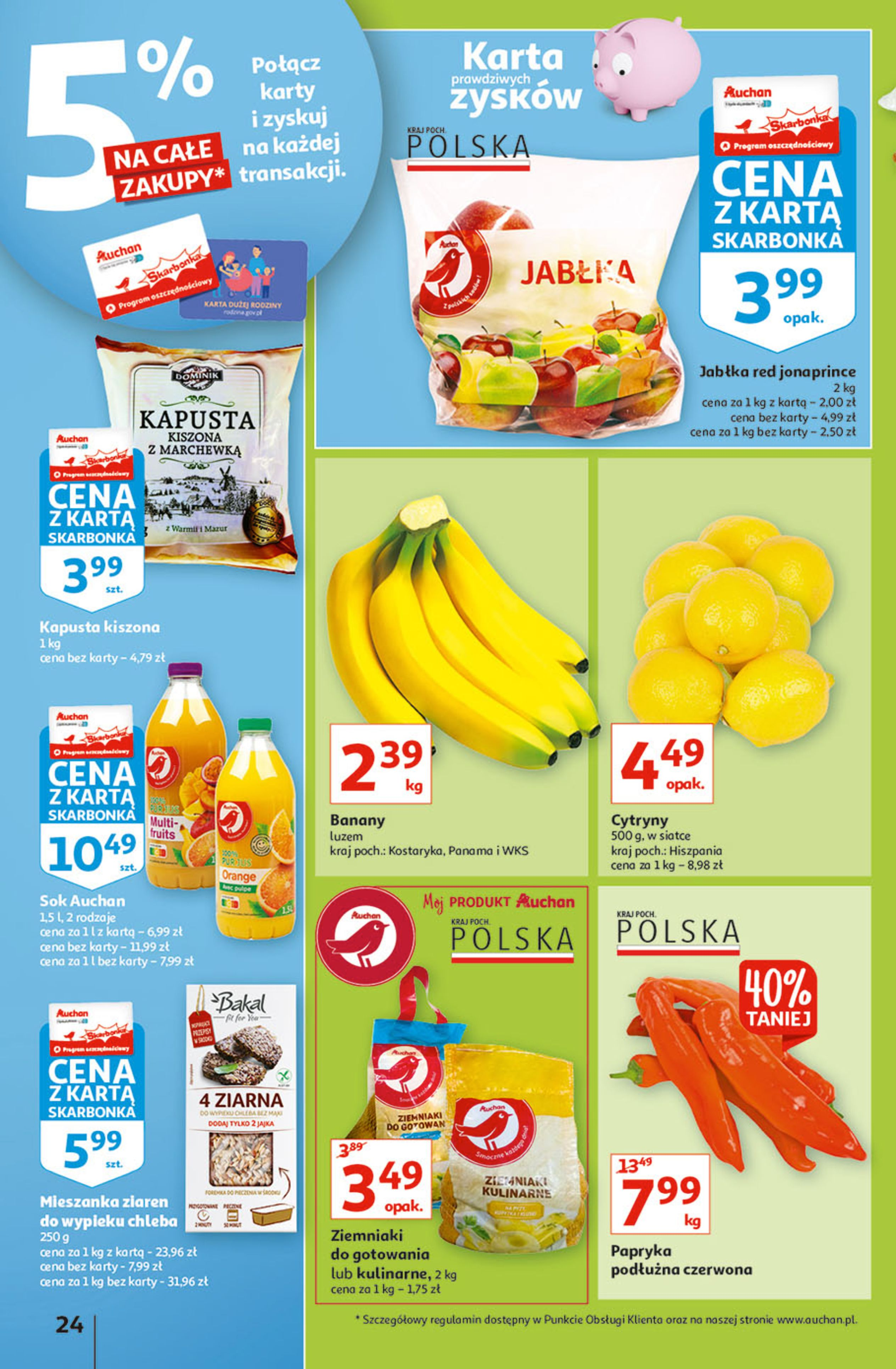 Gazetka Auchan: Gazetka Auchan - Hiperoszczędzanie w wersji Maxi Paki Hipermarkety 2021-09-16 page-24