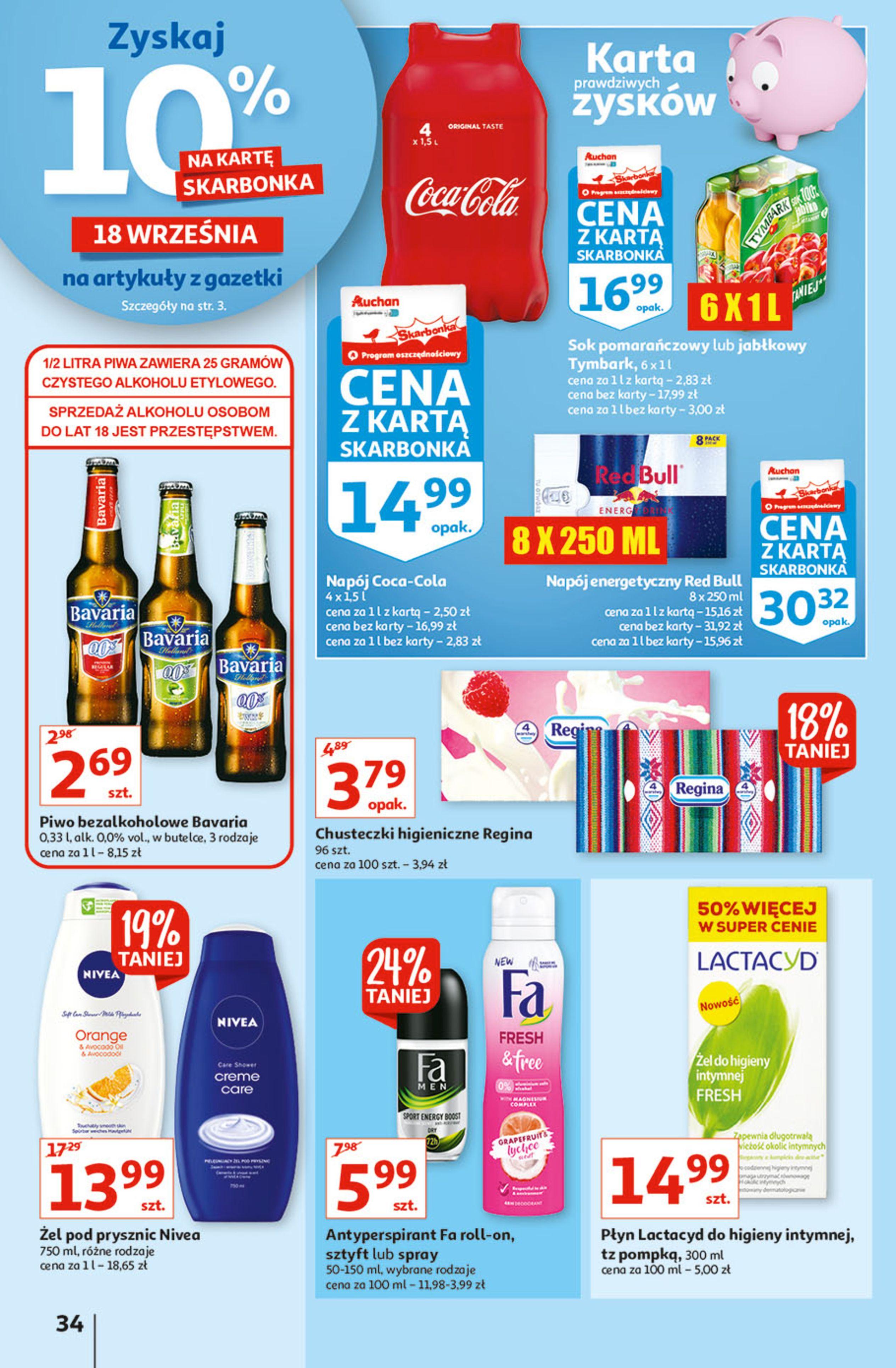 Gazetka Auchan: Gazetka Auchan - Hiperoszczędzanie w wersji Maxi Paki Hipermarkety 2021-09-16 page-34