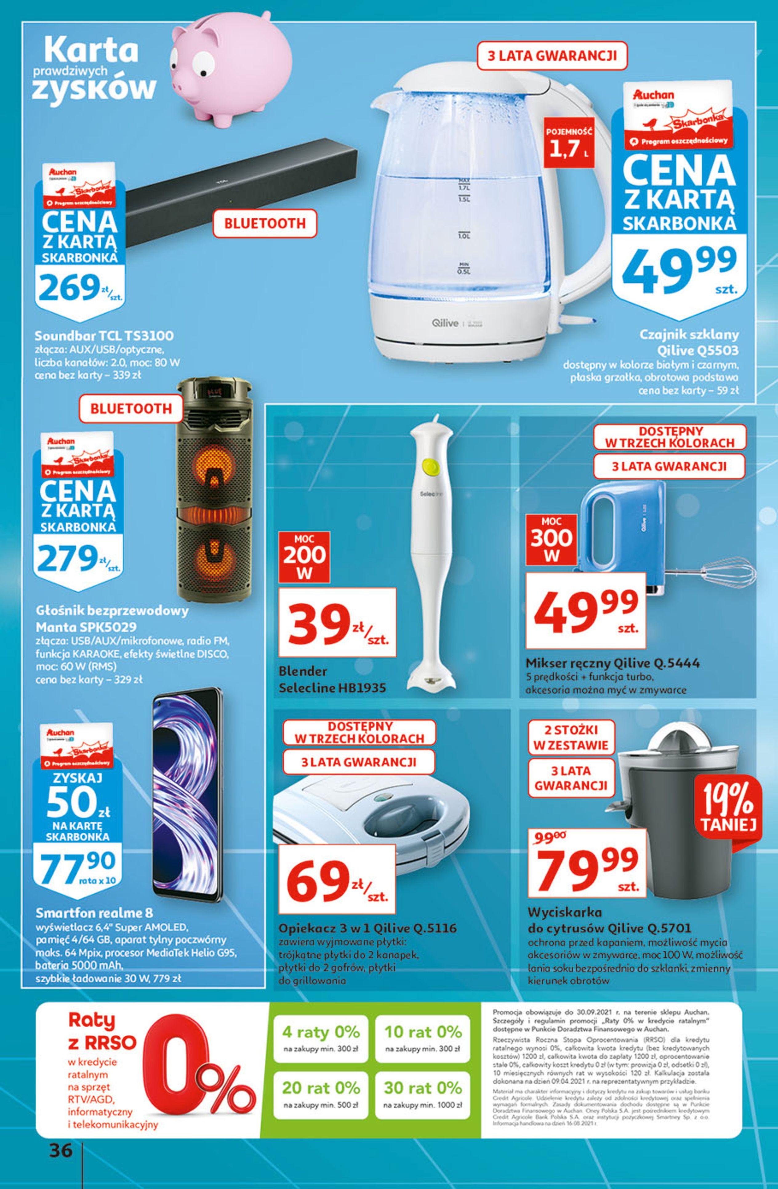 Gazetka Auchan: Gazetka Auchan - Hiperoszczędzanie w wersji Maxi Paki Hipermarkety 2021-09-16 page-36