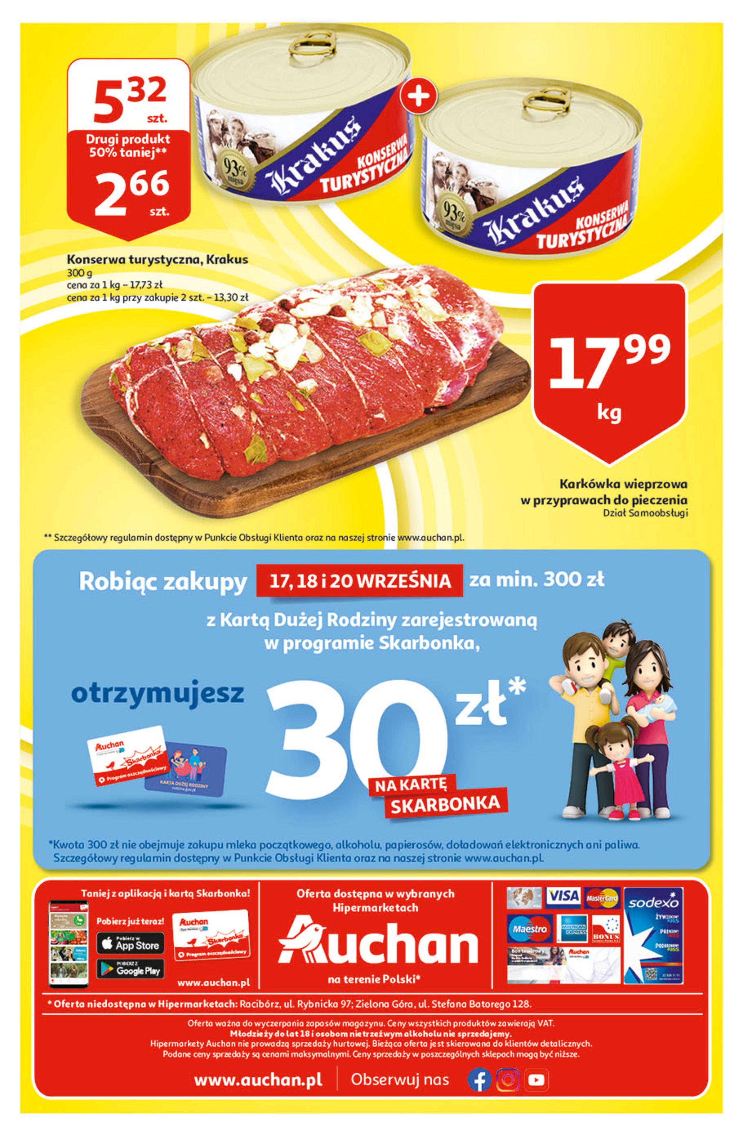 Gazetka Auchan: Gazetka Auchan - Hiperoszczędzanie w wersji Maxi Paki Hipermarkety 2021-09-16 page-40