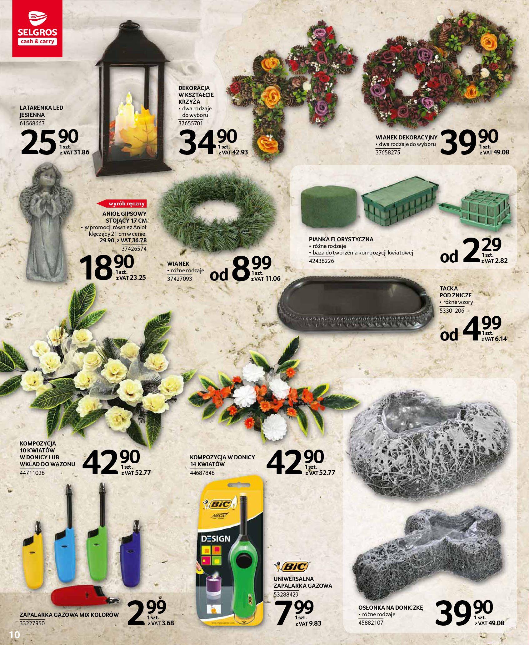 Gazetka Selgros - Katalog - Wszystkich Świętych-07.10.2020-31.10.2020-page-10