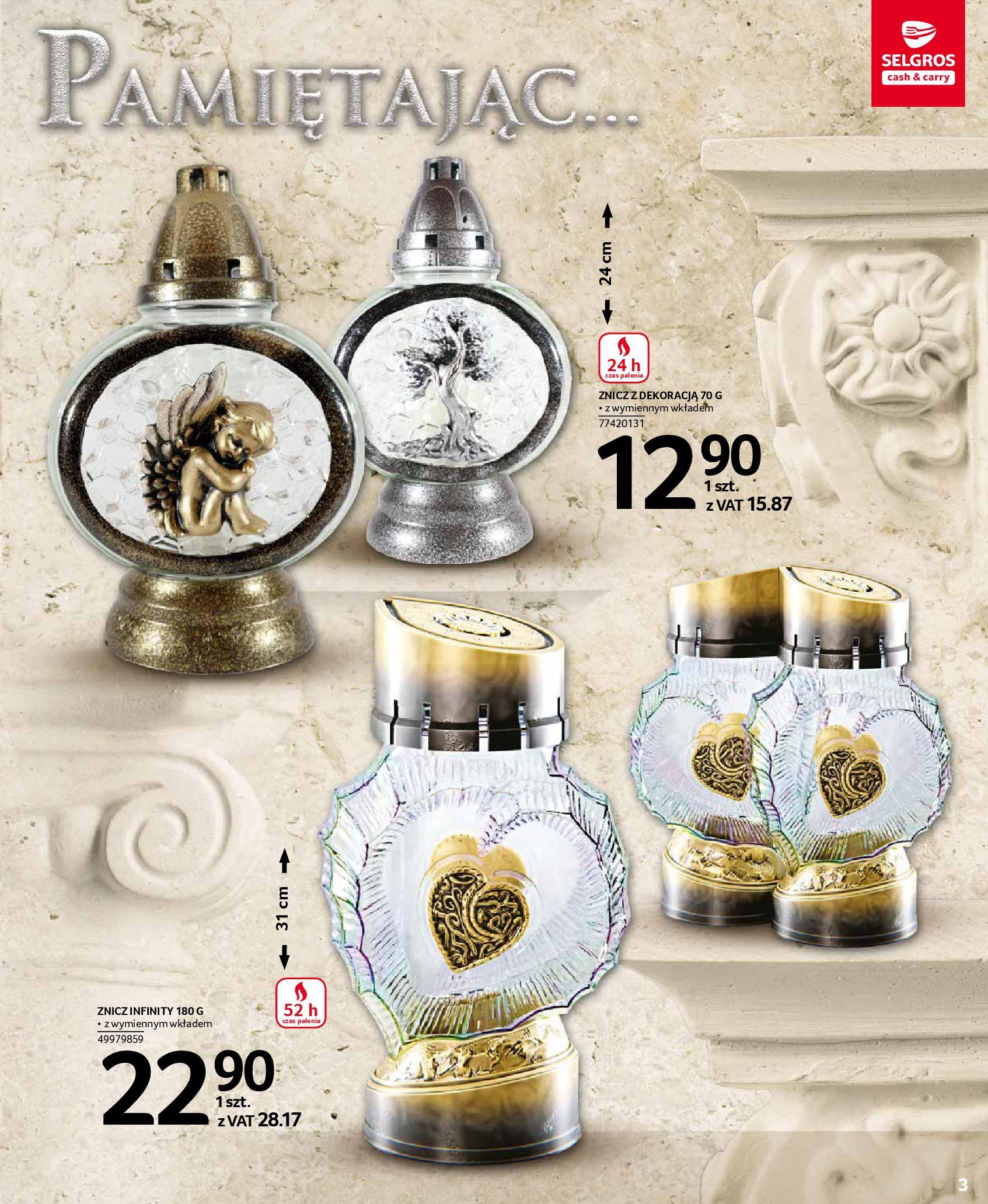 Gazetka Selgros - Katalog - Wszystkich Świętych-07.10.2020-31.10.2020-page-3