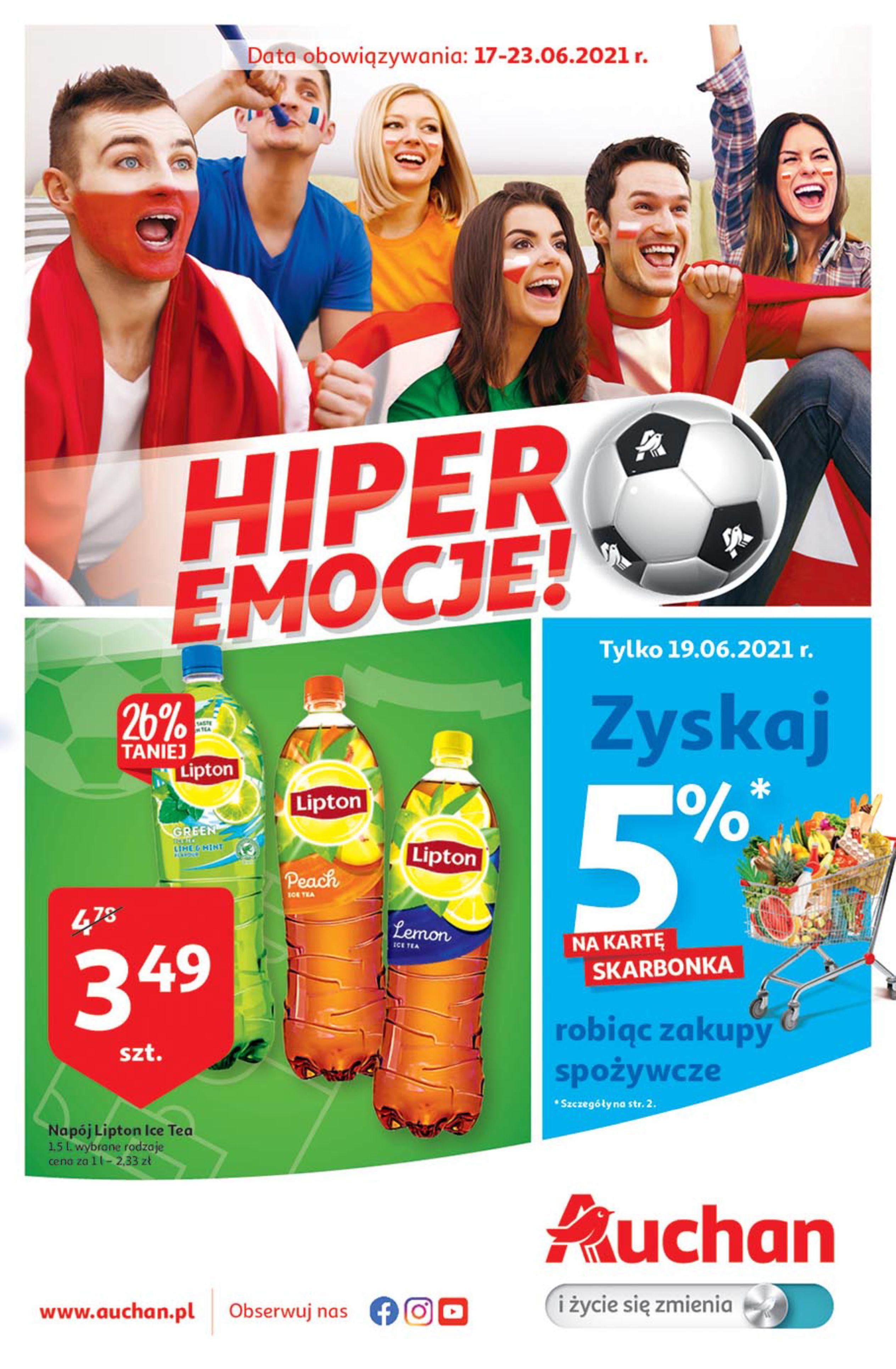Gazetka Auchan: Gazetka Auchan - HIPER emocje - 16.06.2021