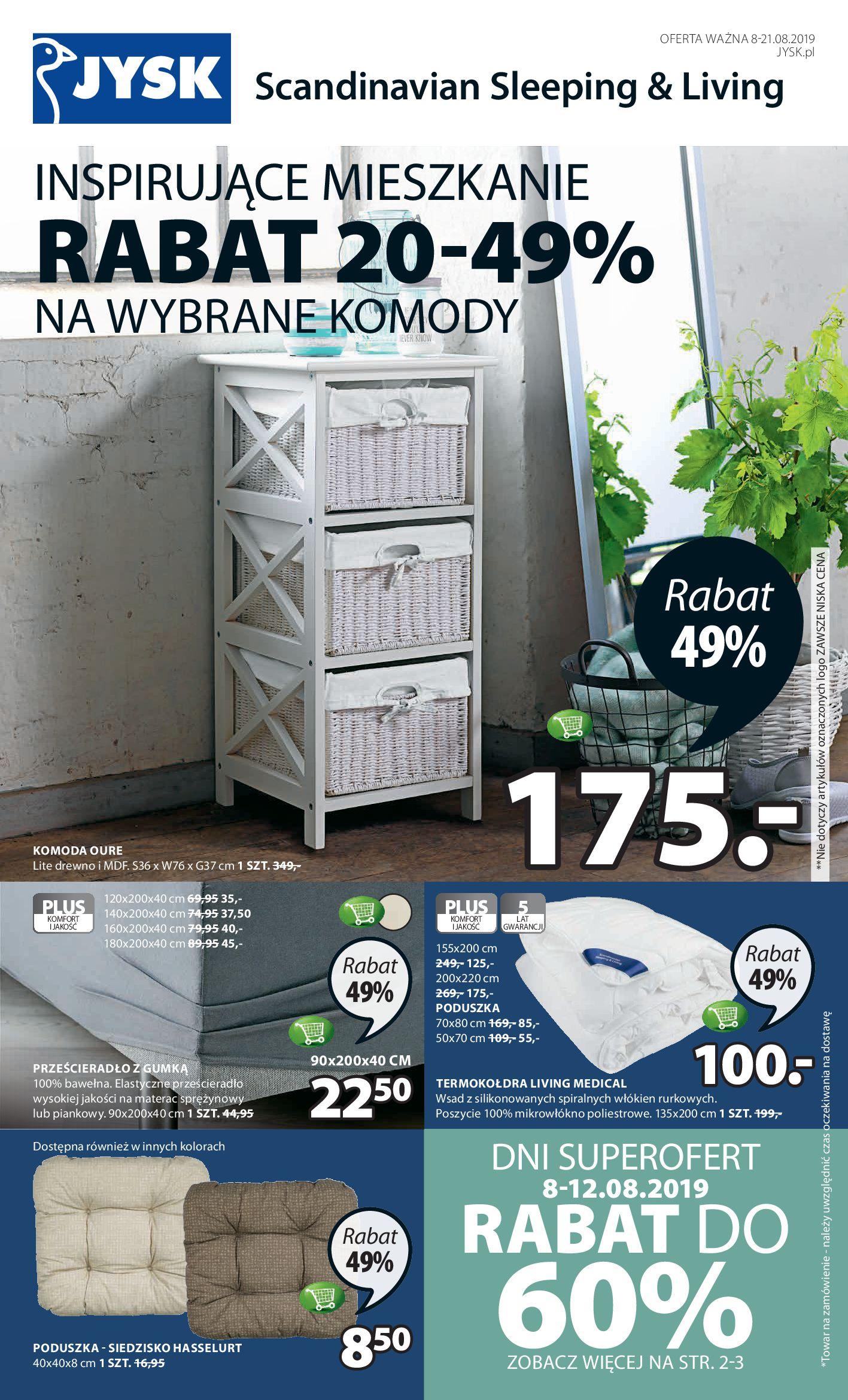 Gazetka Jysk - Inspirujące mieszkanie-07.08.2019-21.08.2019-page-1
