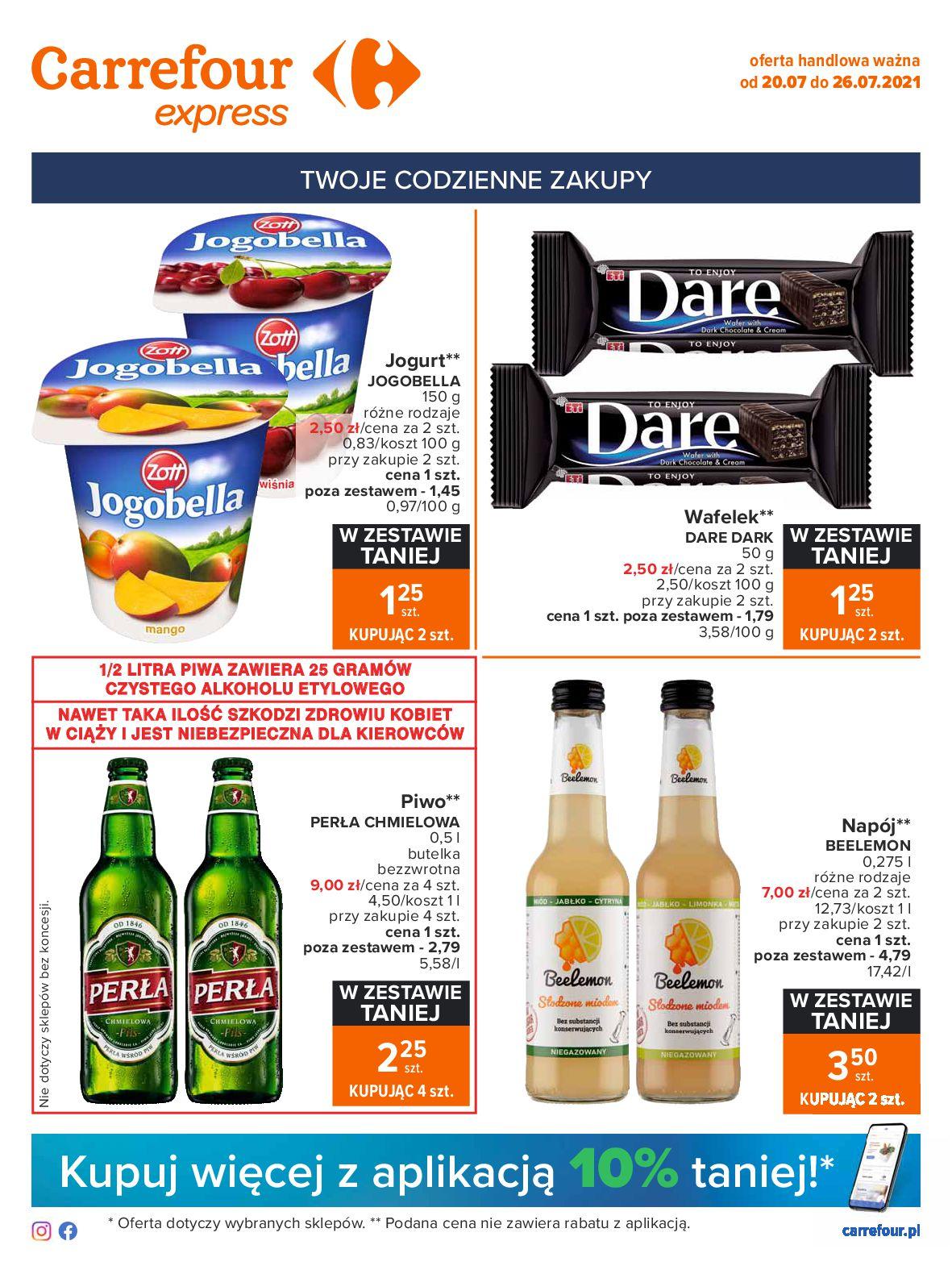 Gazetka Carrefour Express: Gazetka Carrefour Express - codzienne zakupy 2021-07-20 page-1