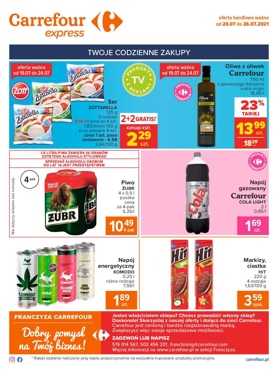 Gazetka Carrefour Express: Gazetka Carrefour Express - codzienne zakupy 2021-07-20 page-2