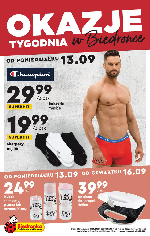 Gazetka Biedronka: Gazetka Biedronka - katalog od 13.09. 2021-09-13 page-1