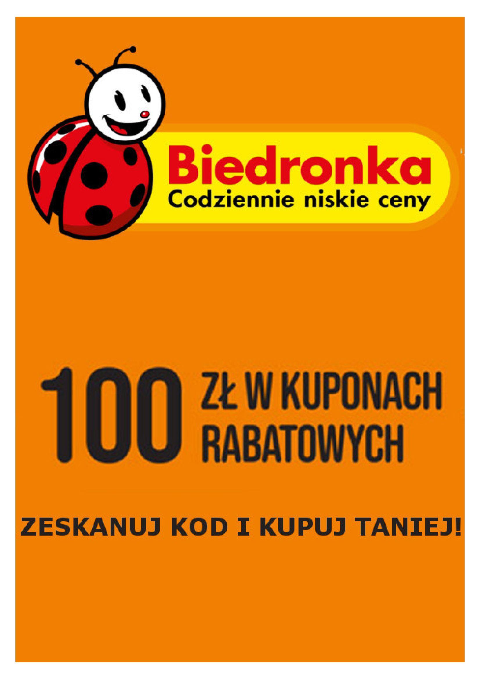 Biedronka:  Gazetka Biedronka - Kody rabatowe na wybrane produkty 19.10.2021