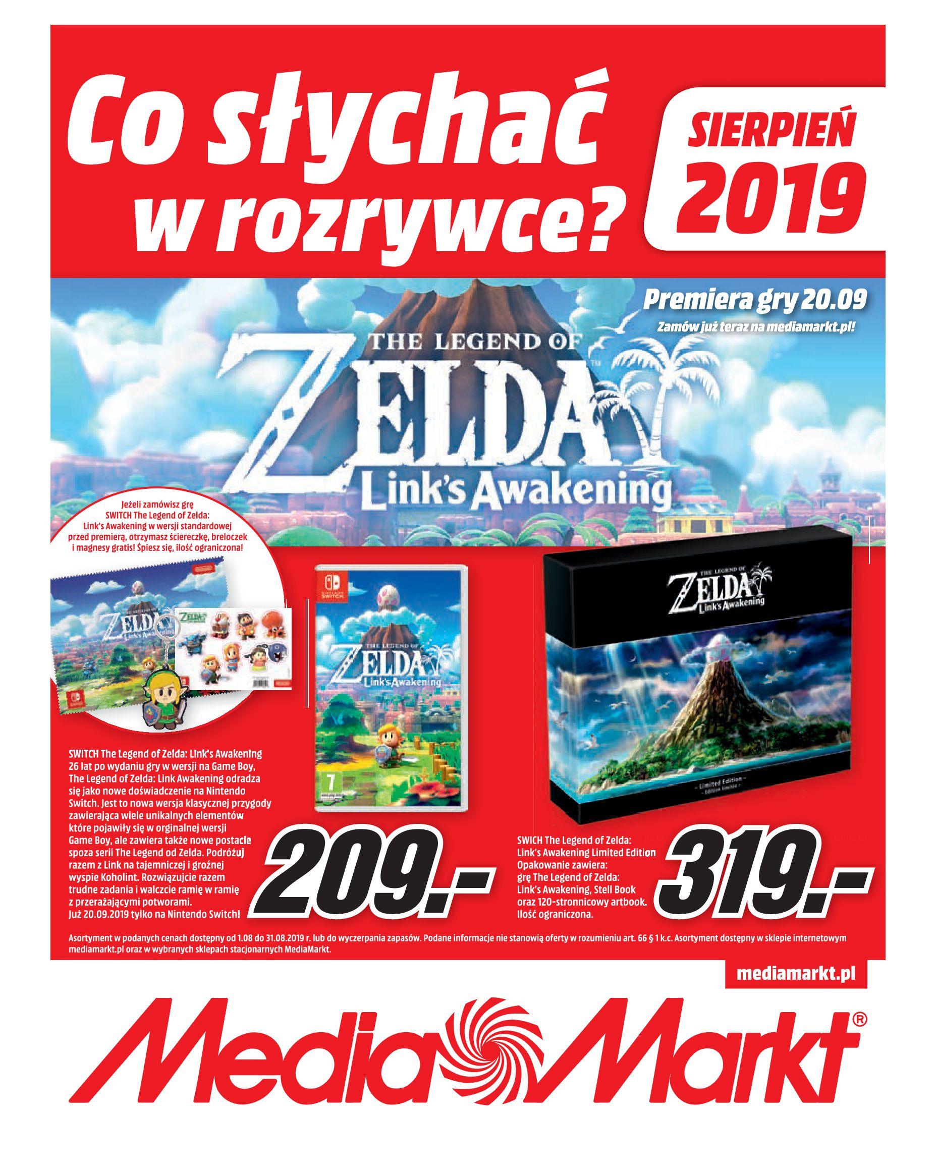 Gazetka Media Markt - Co słychać w rozrywce ?-01.08.2019-31.08.2019-page-1