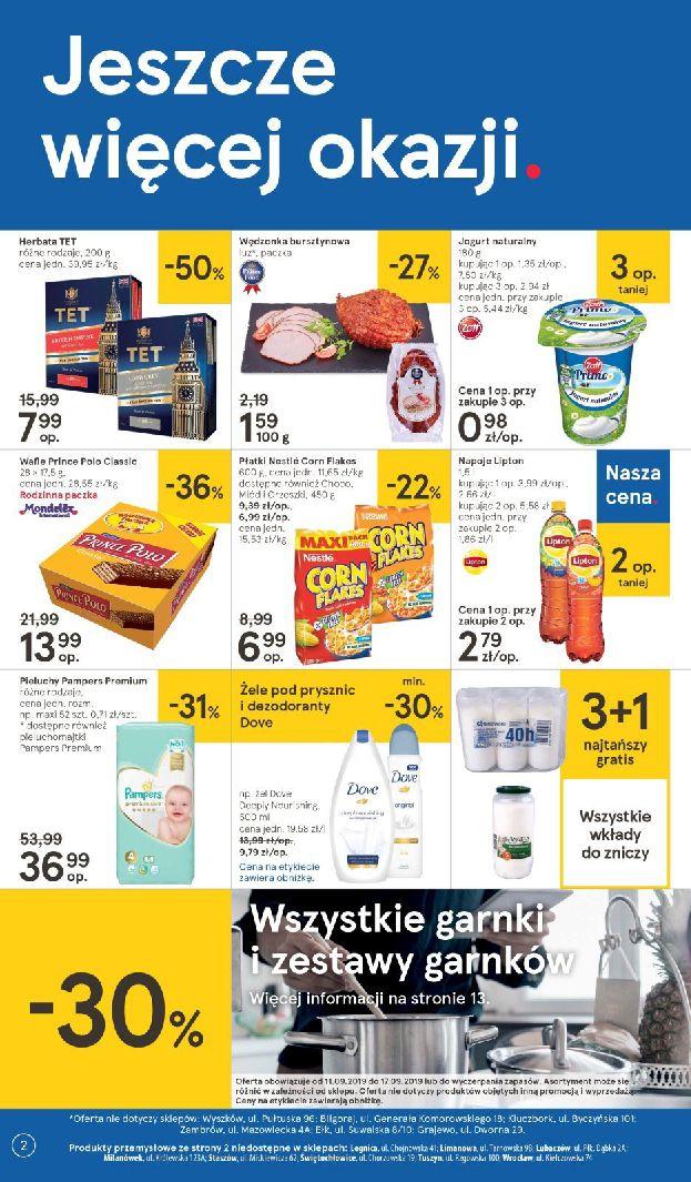 Gazetka Tesco - Oferta na art. spożywcze i kosmetyki-11.09.2019-18.09.2019-page-2