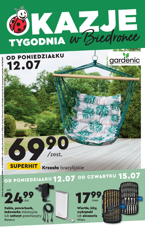 Biedronka:  Gazetka Biedronka - Okazje tygodnia od 12.07 11.07.2021