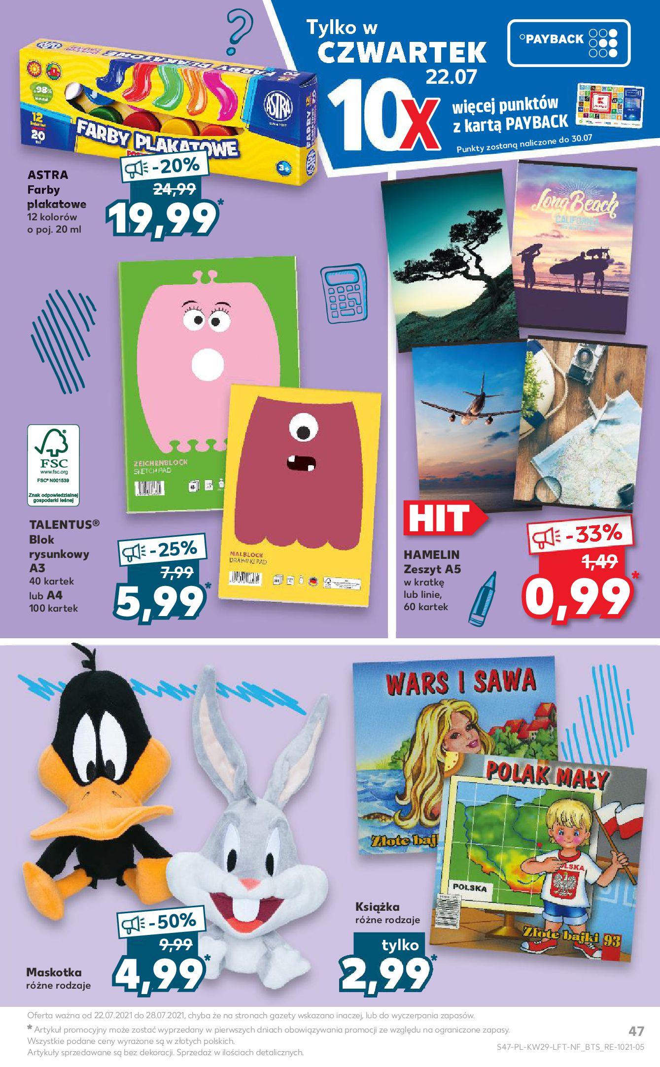 Gazetka Kaufland: Gazetka Kaufland - od czwartku 2021-07-22 page-47