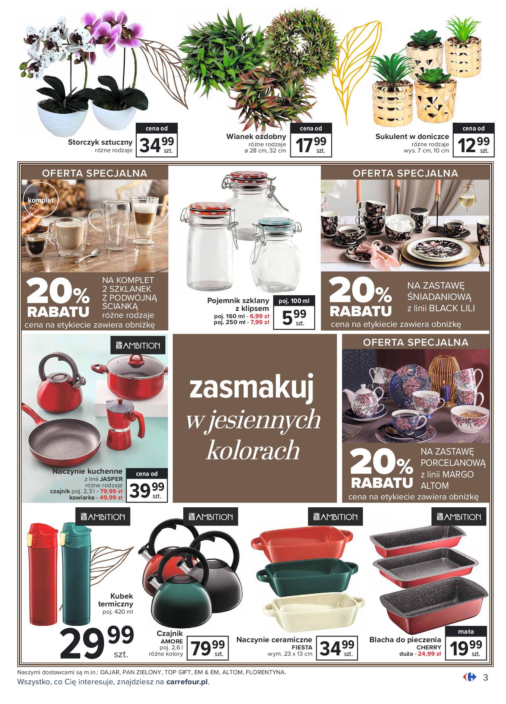 Gazetka Carrefour: Gazetka Carrefour - Dom gotowy na Jesień! 2021-09-14 page-3