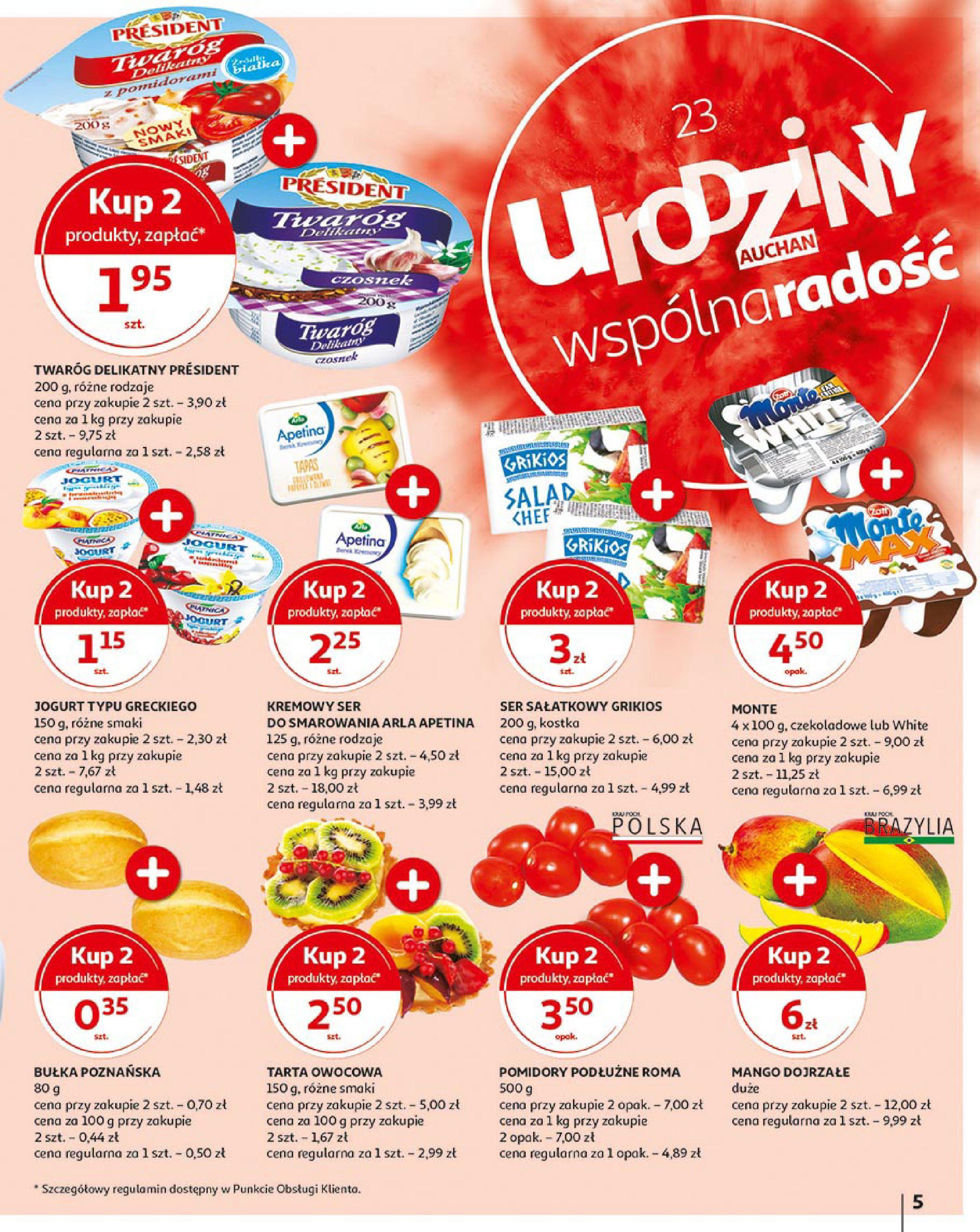 Gazetka Auchan - 23 urodziny Auchan Hipermarkety-15.05.2019-23.05.2019-page-