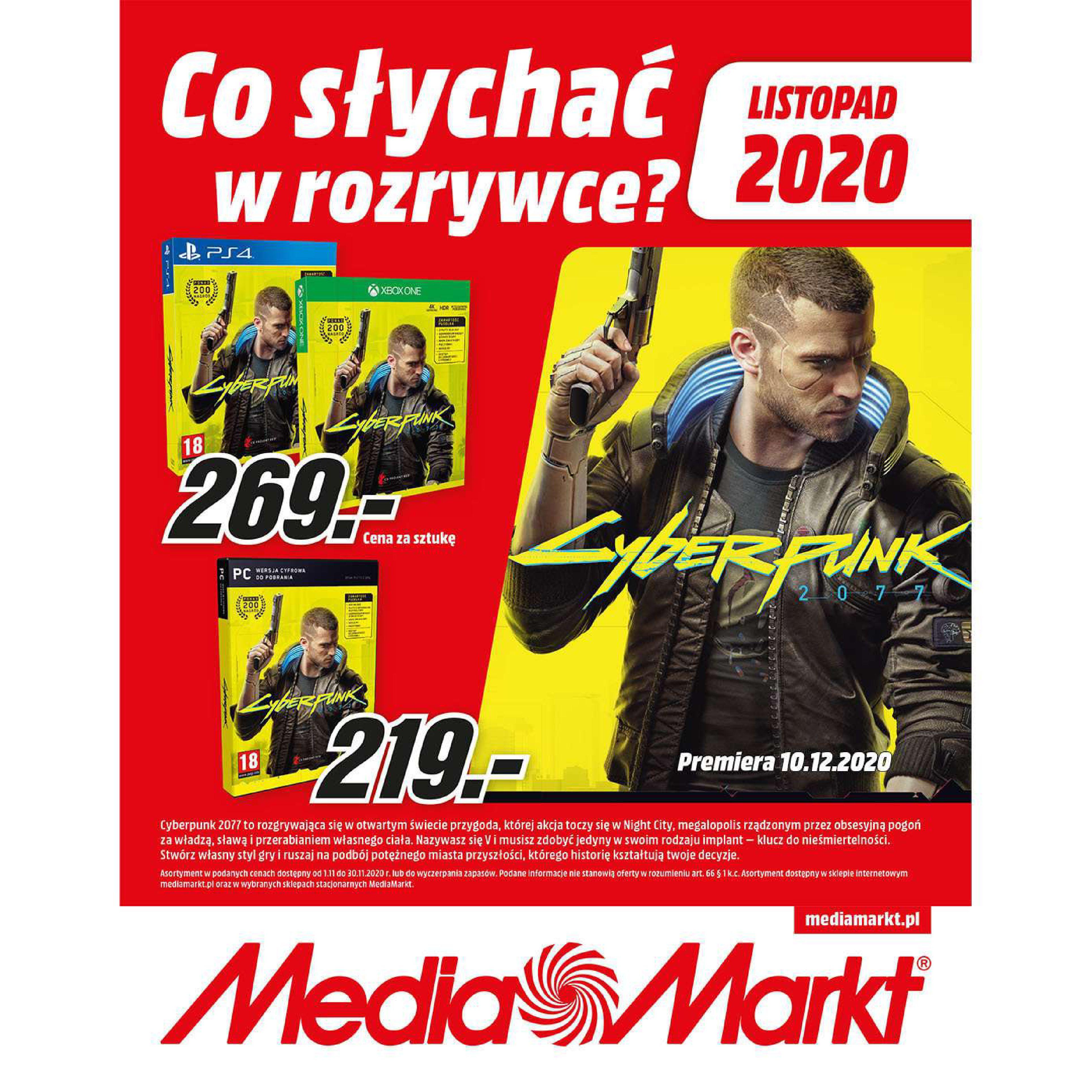 Media Markt:  Co słychać w rozrywce? 31.10.2020