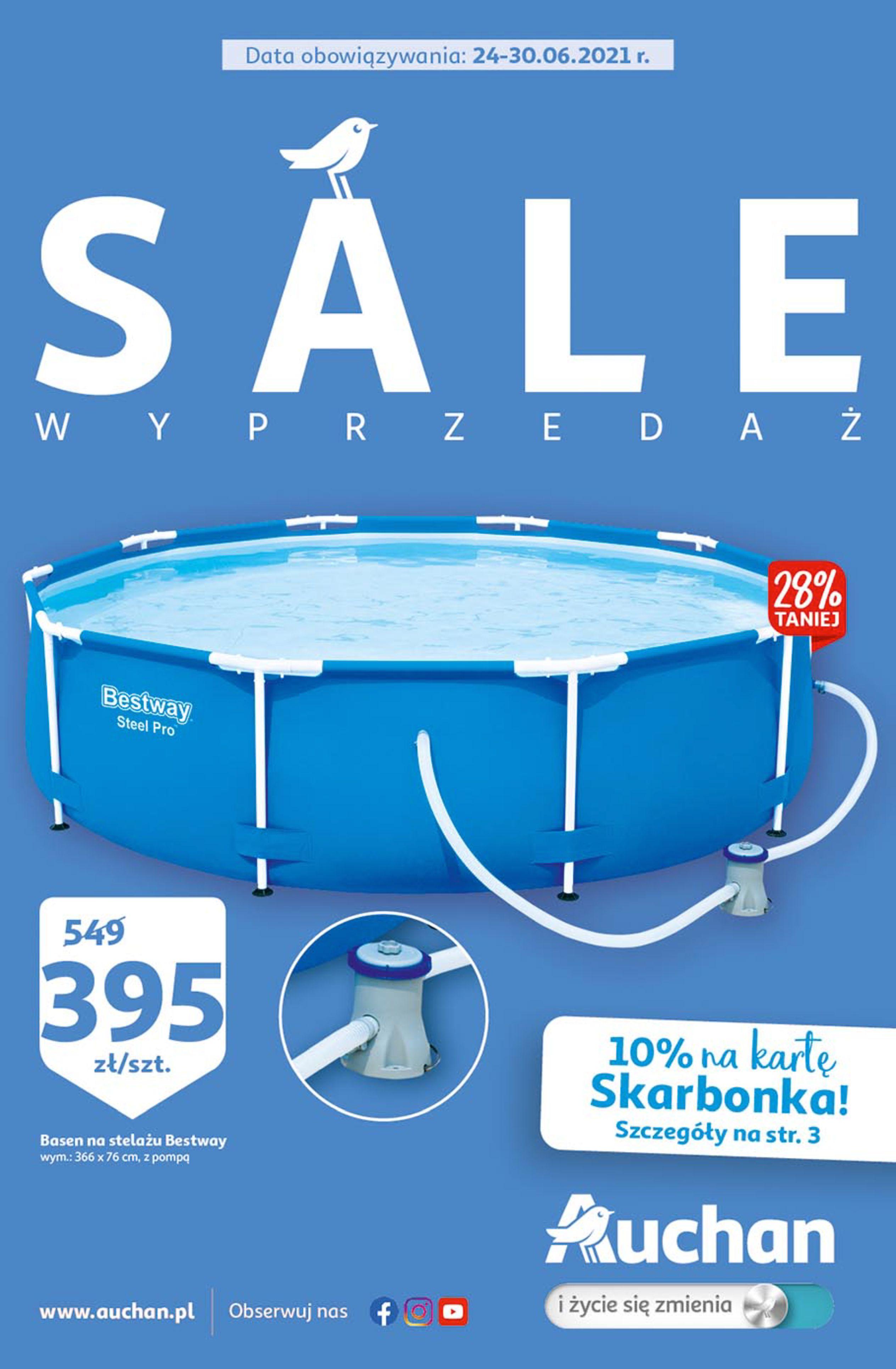 Auchan:  Gazetka Auchan - SALE Hipermarkety 23.06.2021