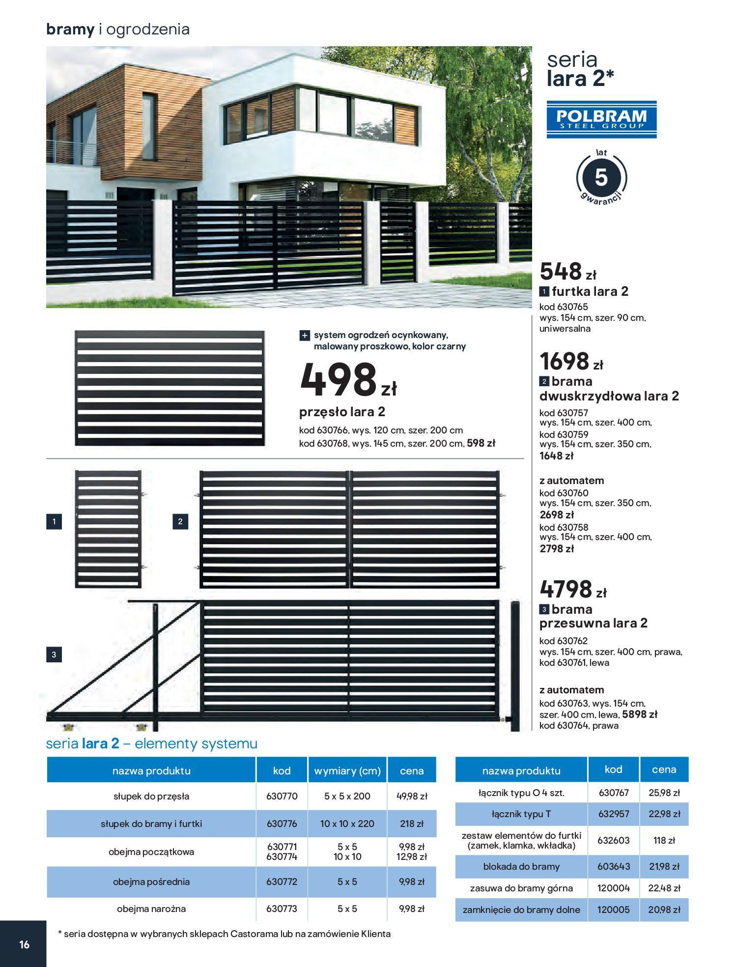Gazetka Castorama - Przewodnik bramy i ogrodzenia-12.02.2020-30.06.2020-page-16
