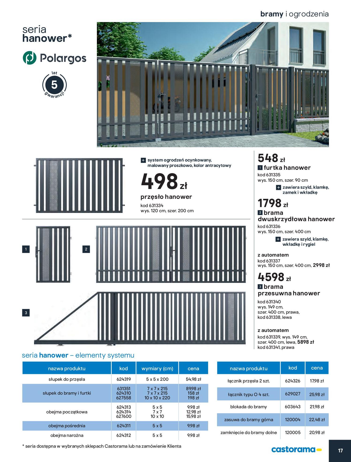 Gazetka Castorama - Przewodnik bramy i ogrodzenia-12.02.2020-30.06.2020-page-17
