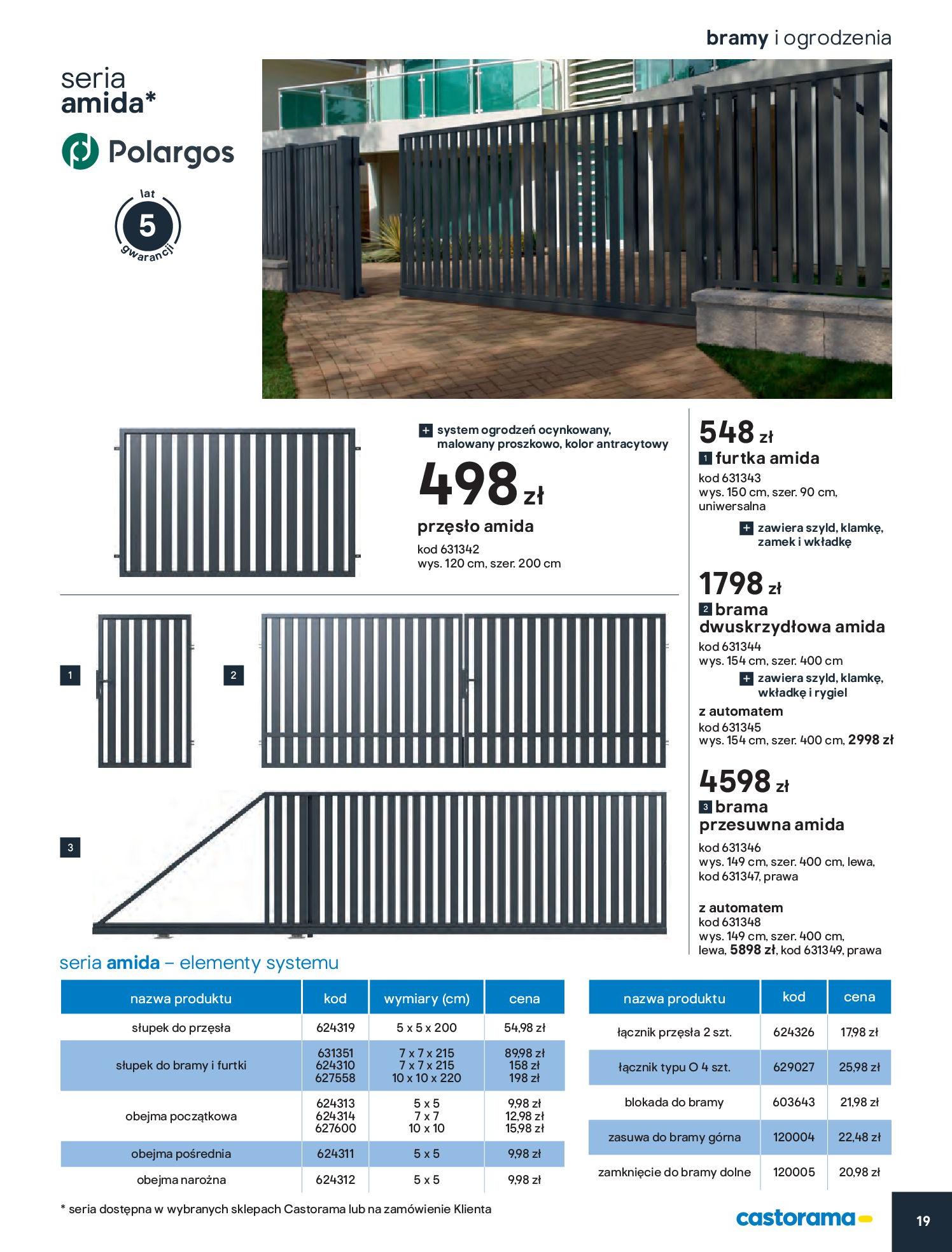 Gazetka Castorama - Przewodnik bramy i ogrodzenia-12.02.2020-30.06.2020-page-19