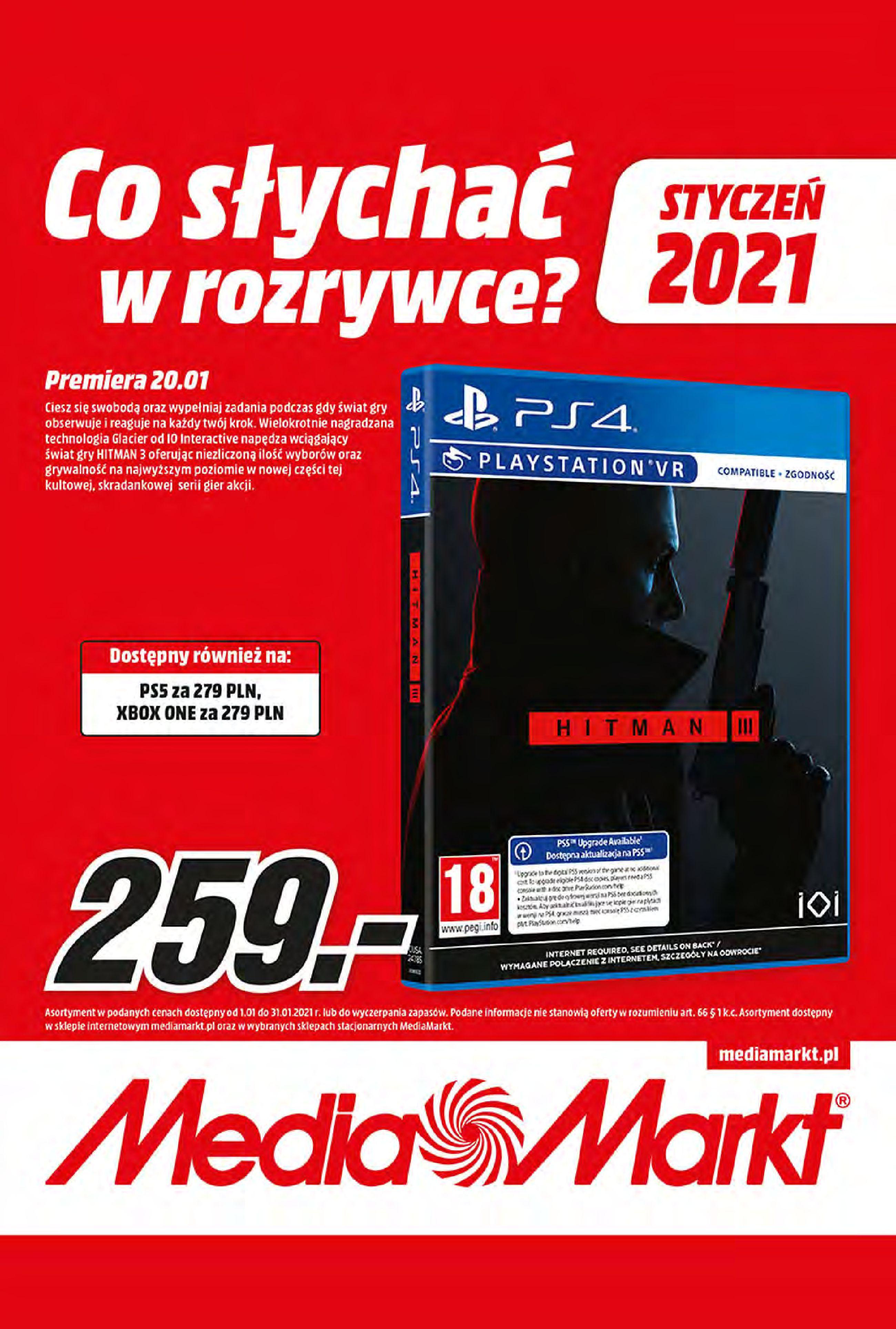 Gazetka Media Markt: Oferta handlowa 2021-01-11 page-1